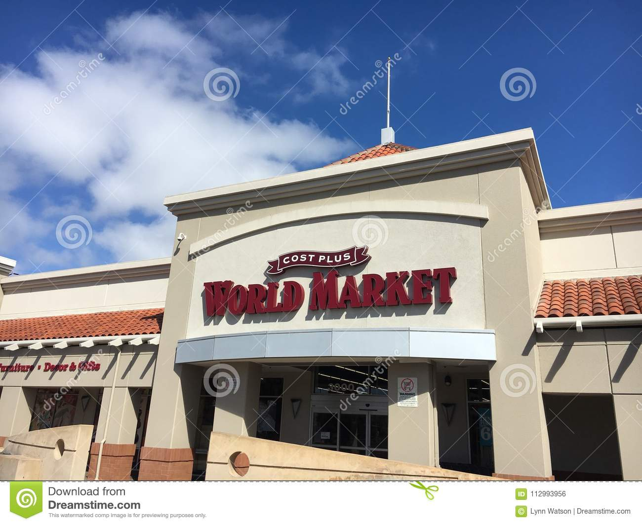 Cost Plus World Market Storefront Editorial Photo - Image of