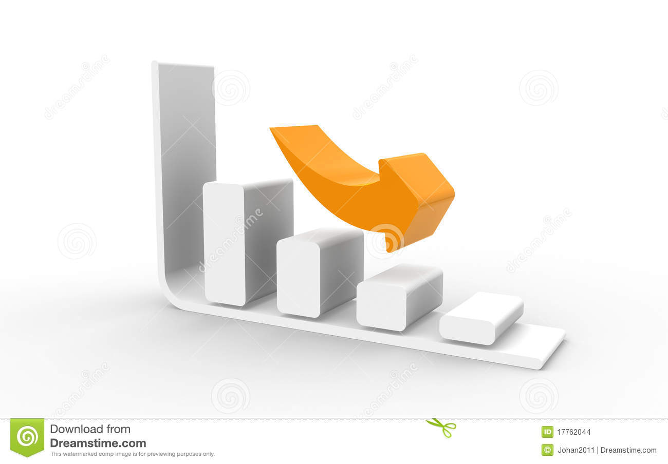 Cost U Less >> Cost Reduction stock illustration. Image of orange, chart - 17762044
