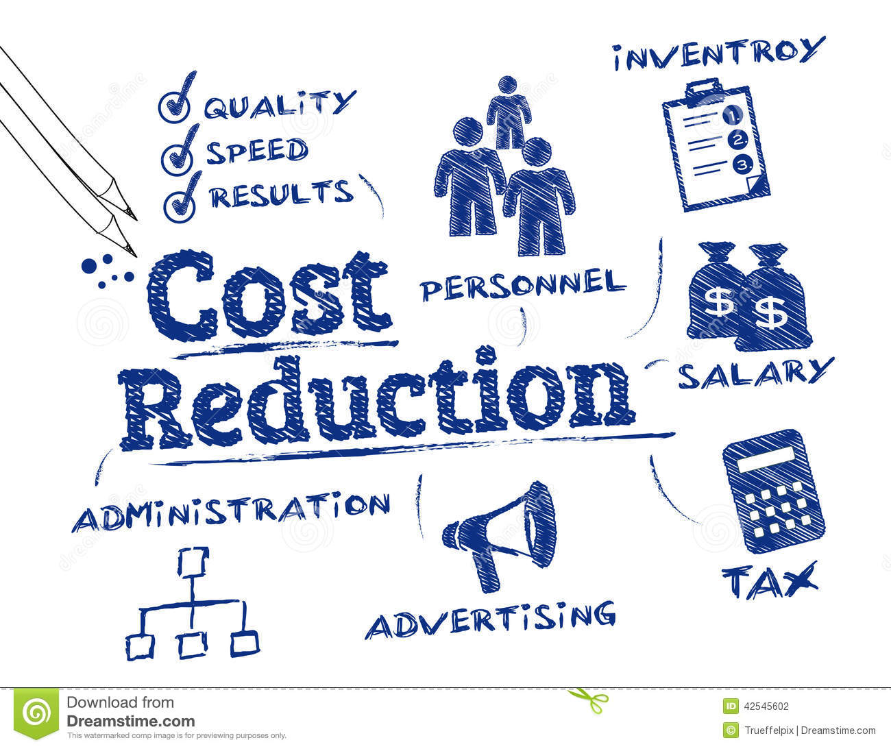 Cost Reduction Concept Stock Illustration - Image: 42545602