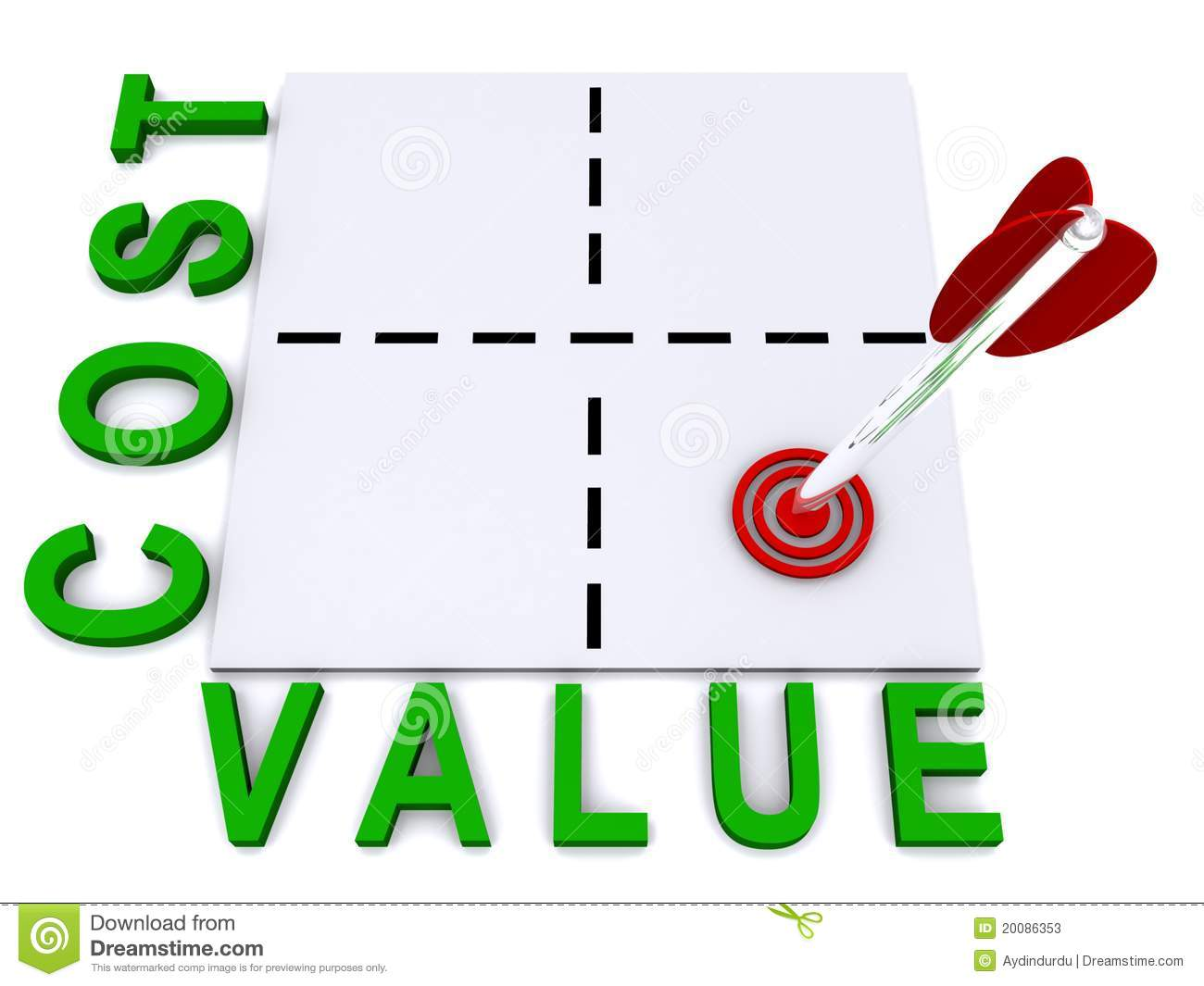Cost And Value Illustration Stock Photos Image 20086353