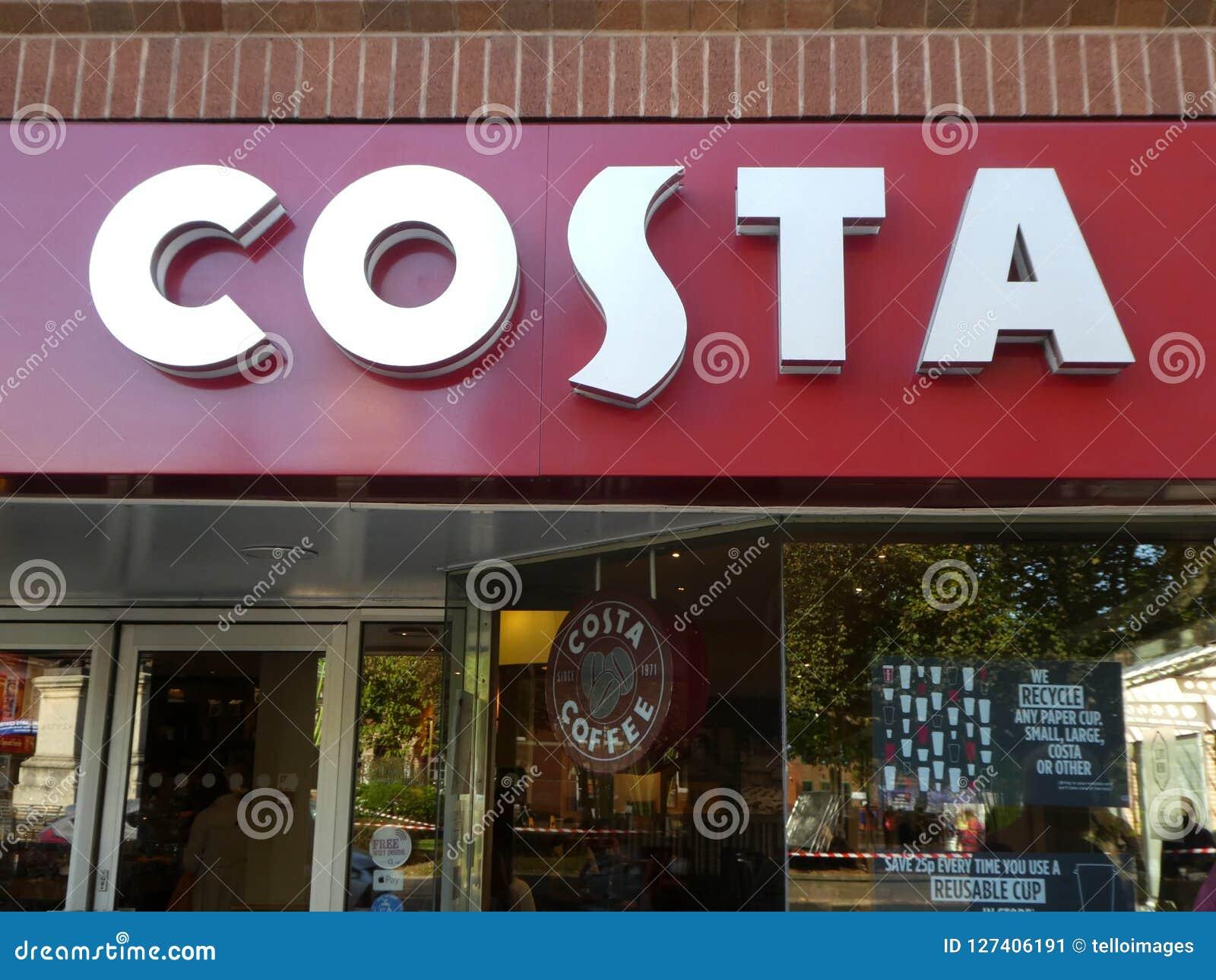 Costa Coffee-Shopzeichenlogo