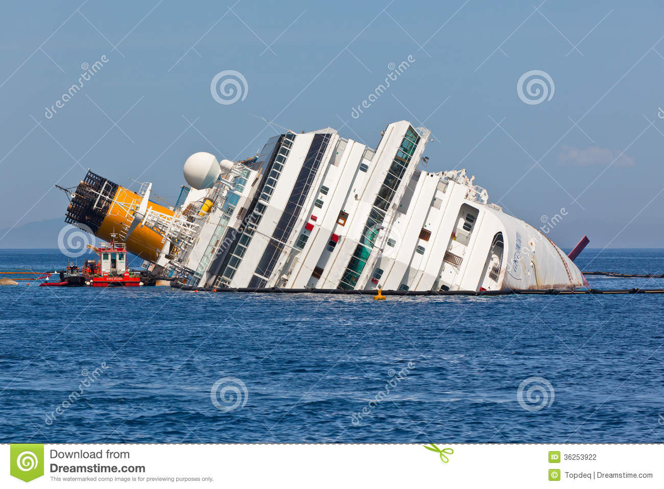 costa concordia cruise ship after shipwreck - Cruise Ship Photographer