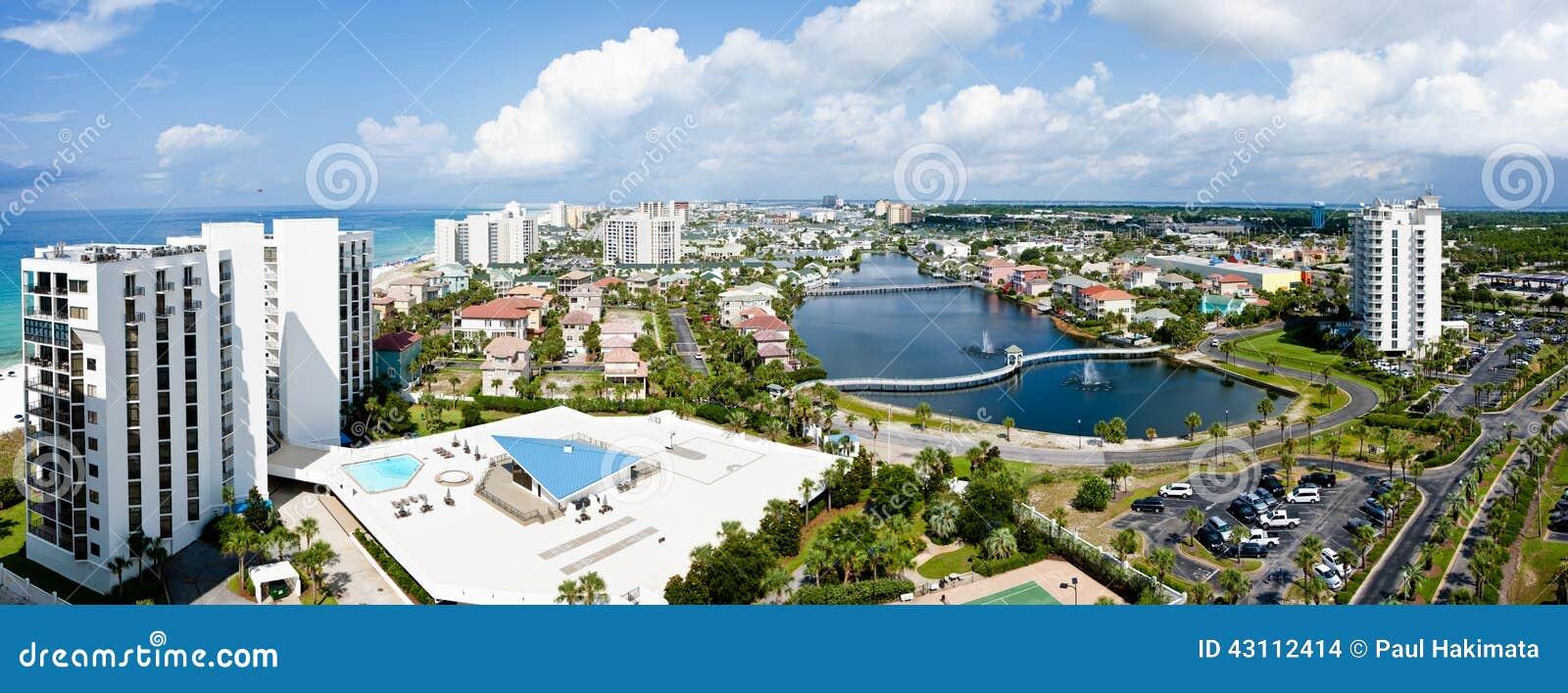 Costa da esmeralda de Destin Florida