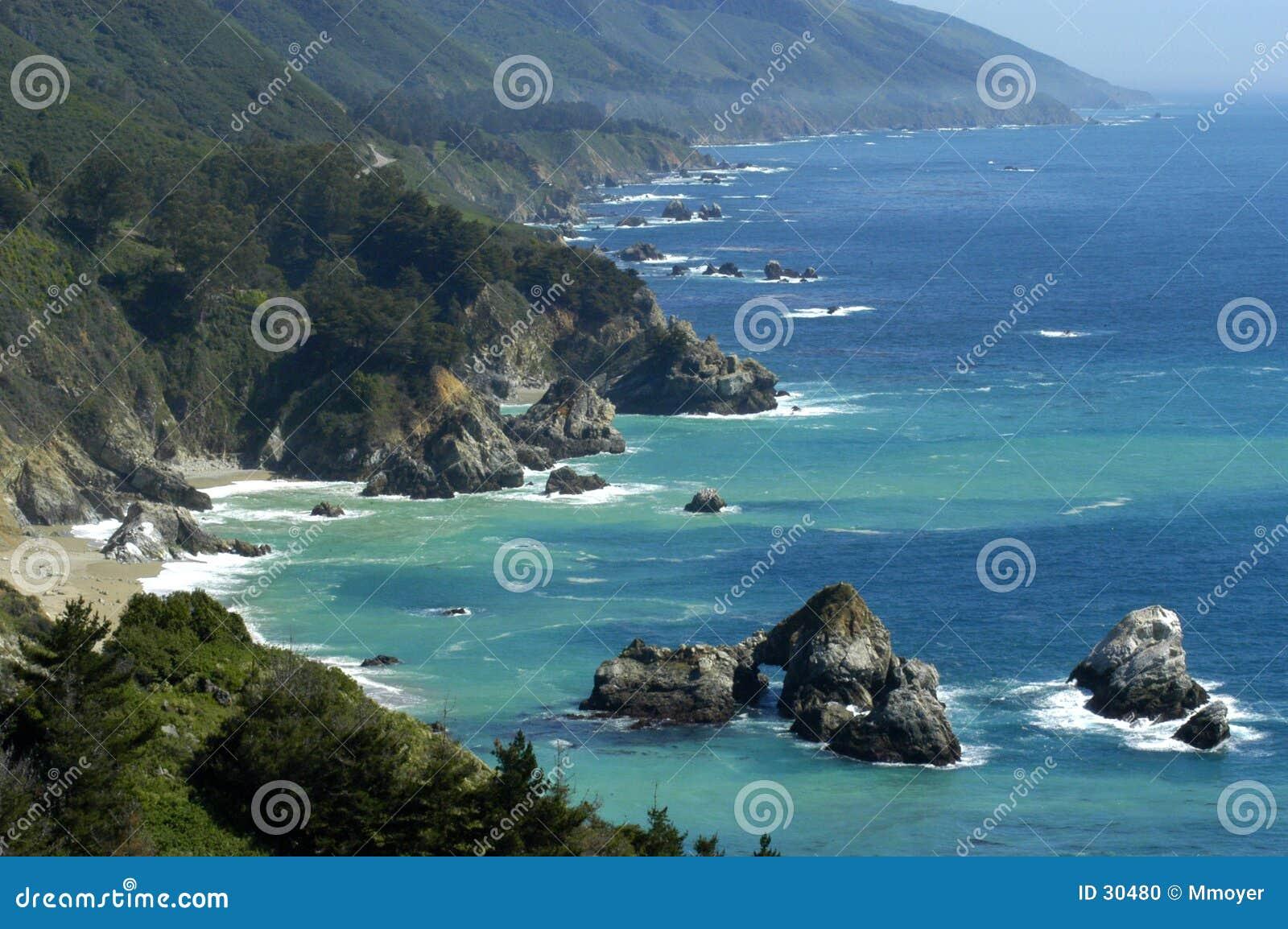 Download Costa de California foto de archivo. Imagen de verano, vacaciones - 30480