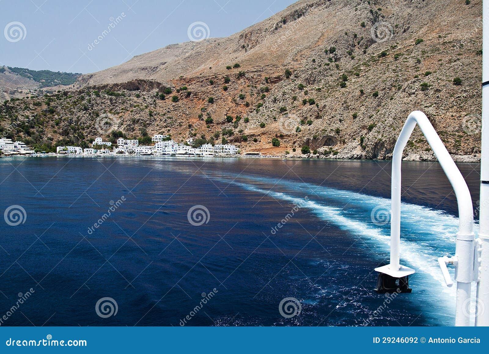 Download Costa de Crete foto de stock. Imagem de grego, pesca - 29246092