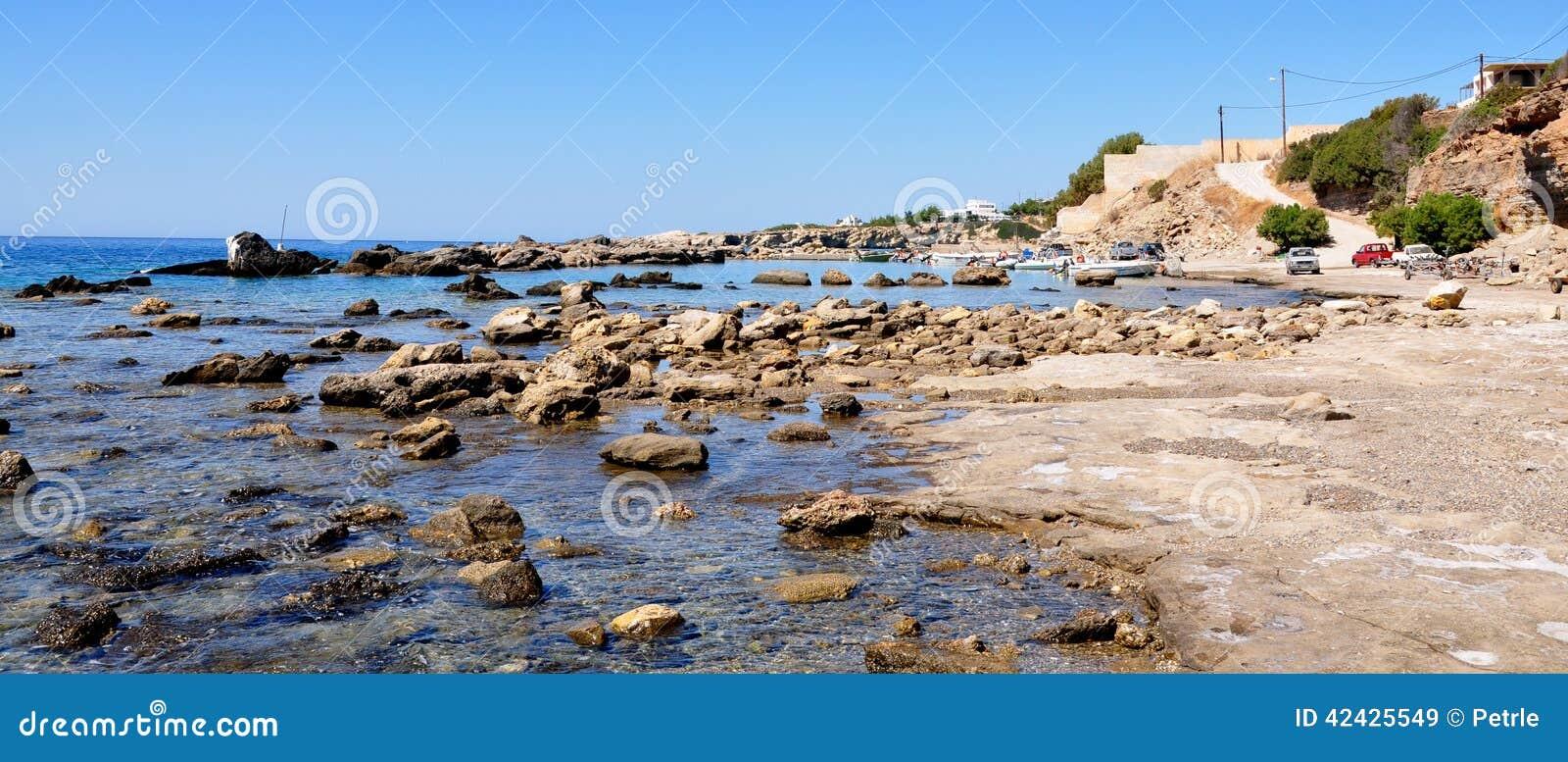 Costa de la isla de Creta, Grecia, Europa