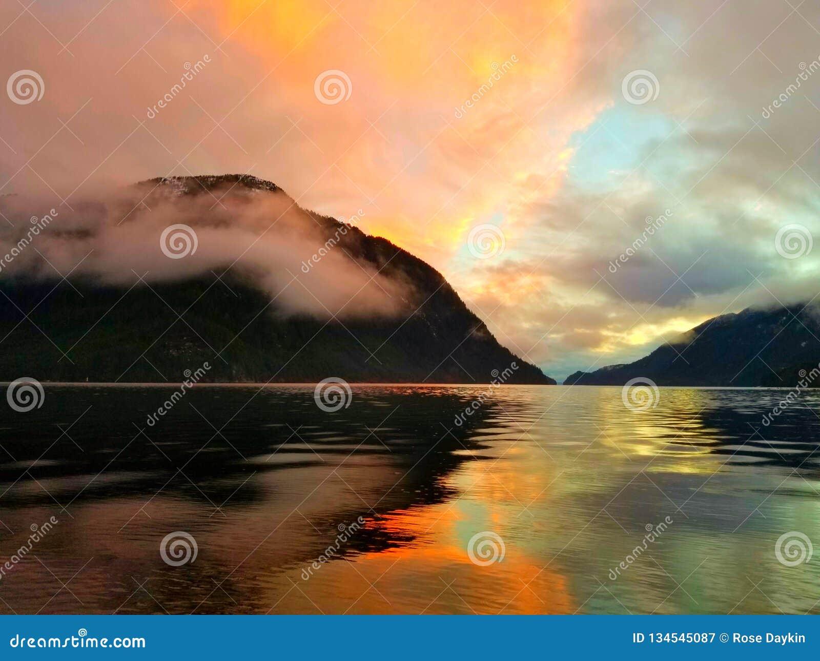 Costa de la puesta del sol