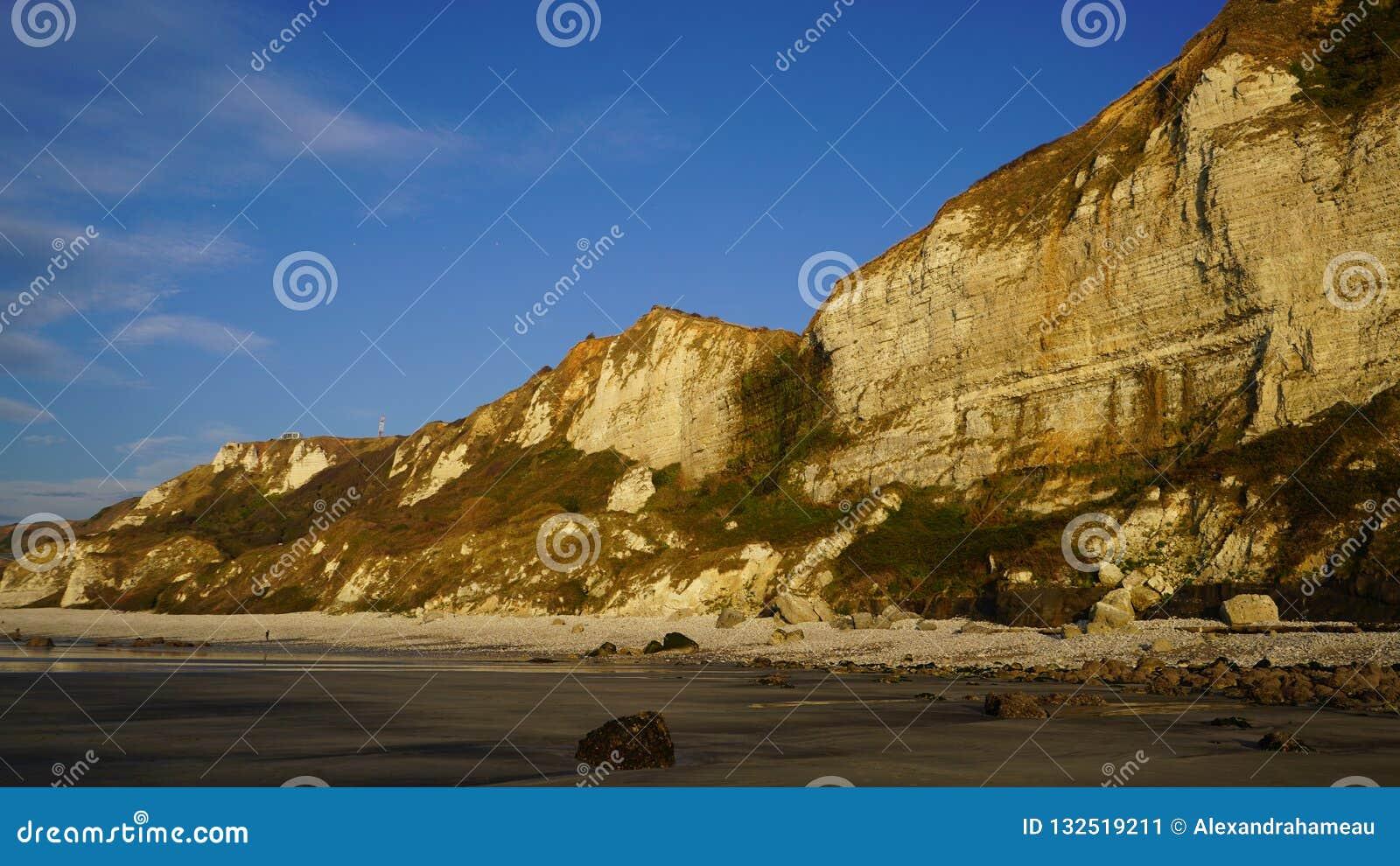 Costa de Normandía entre Etretat y Le Havre, Francia