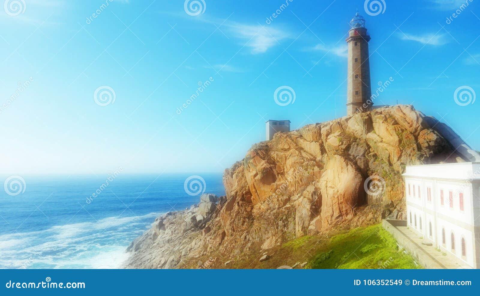 Costa del ¡n del ¡n Cabo Vilà de Galicia España Camariñas Faro Vilà de la muerte Camelle Museo del Man