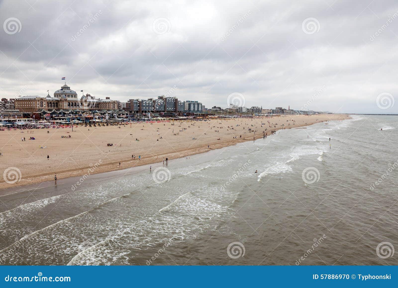 costa del mare del nord a scheveningen olanda immagine