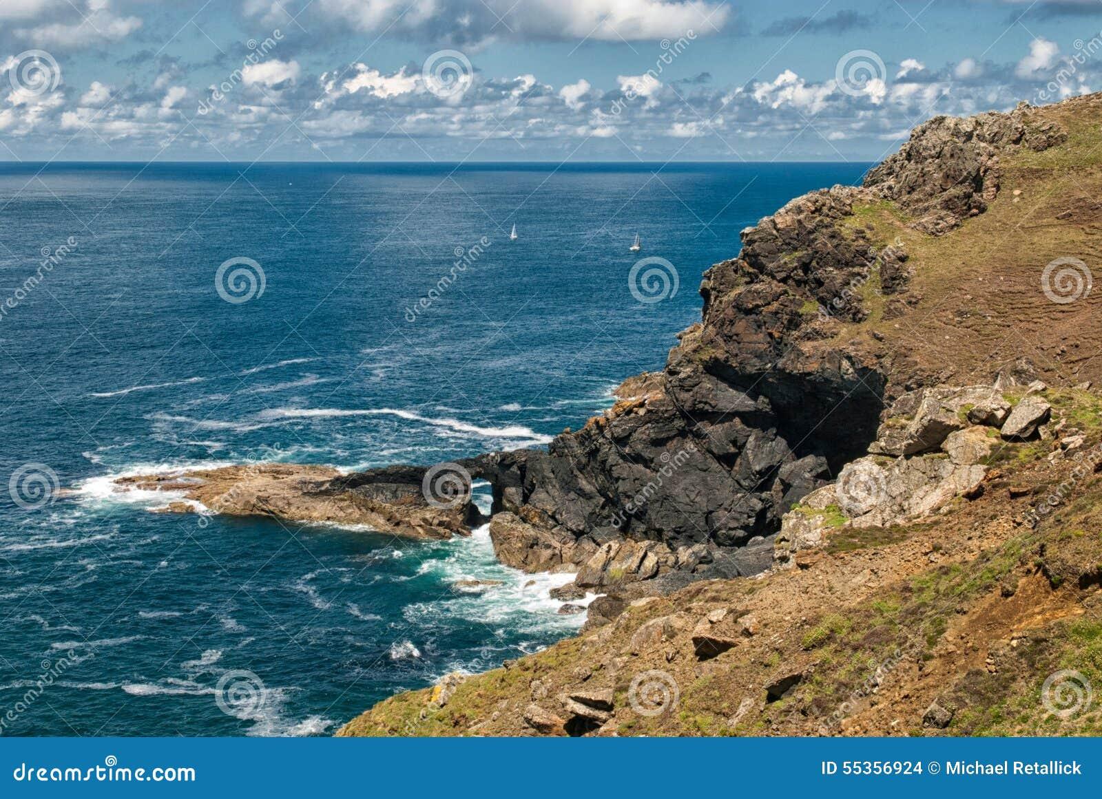 Costa del nord di Cornovaglia vicino a Botallack Regno Unito