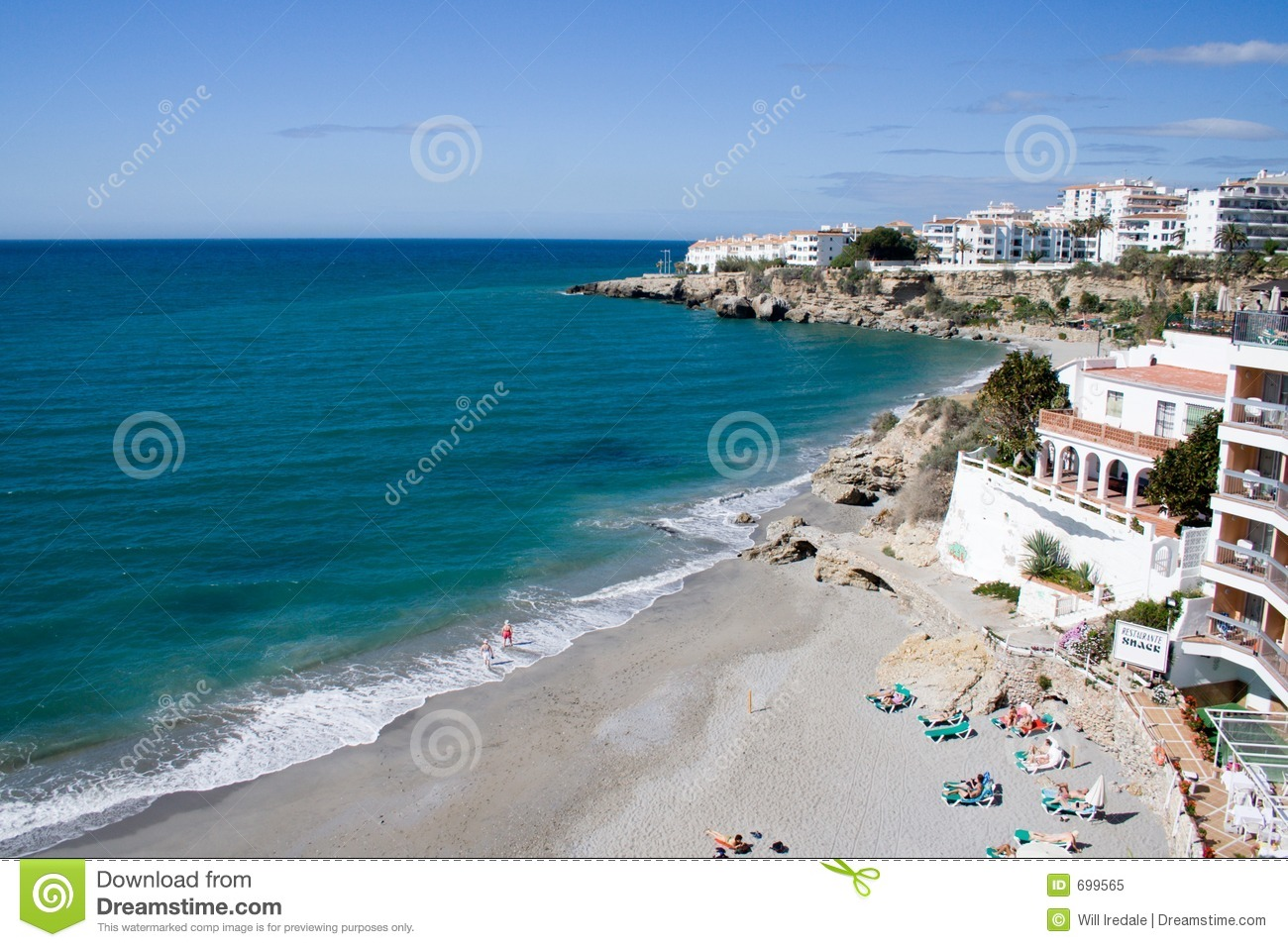 Costa Del Sol Beach Royalty Free Stock Photo - Image: 699565