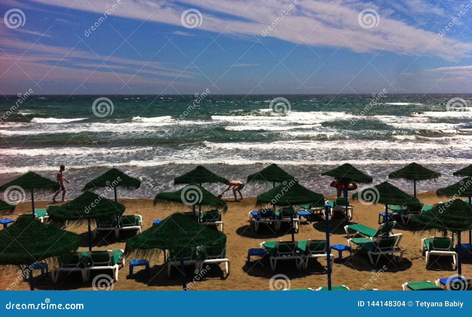 Costa Del Sol, spiaggia di Nerja - della Spagna