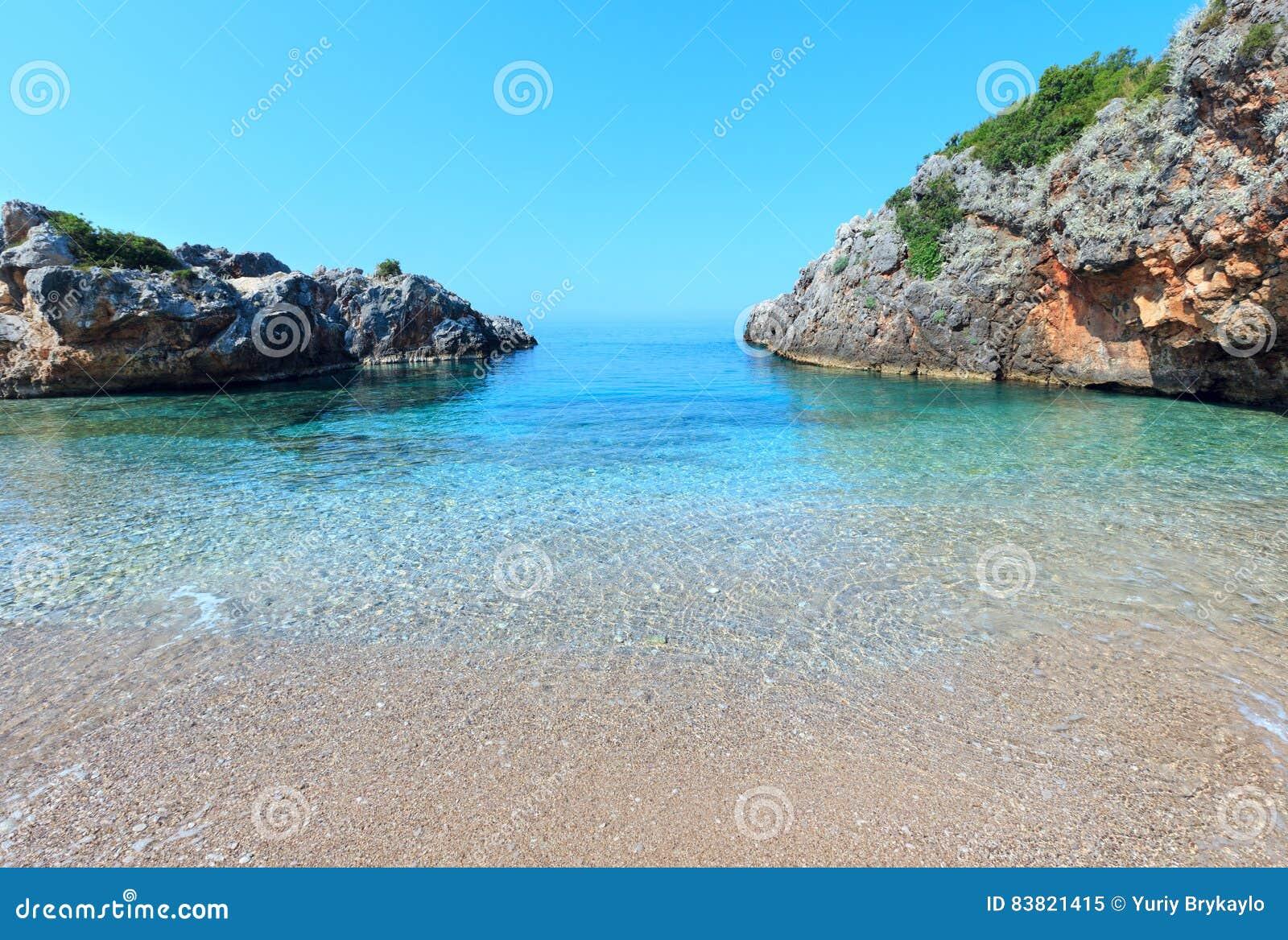 Costa di mare ionico di estate, Albania