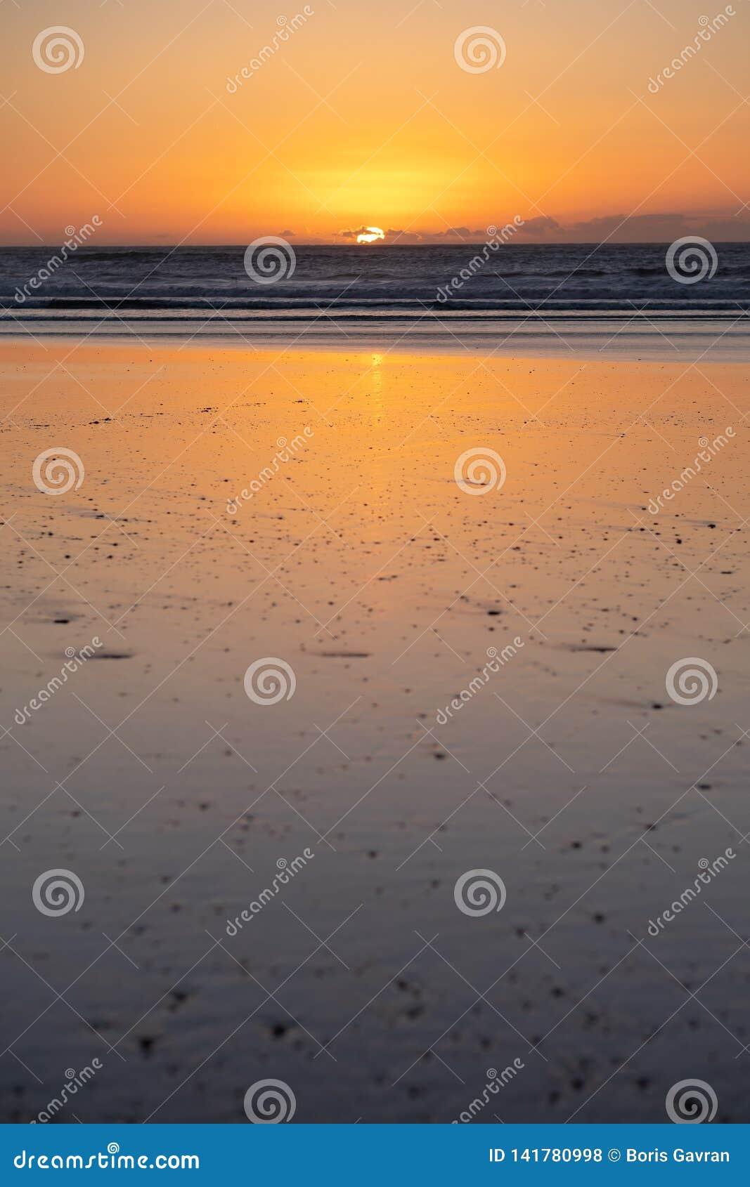 Costa di Sidi Kaouki, Marocco, Africa Tempo di tramonto città della spuma del wonderfull del Marocco