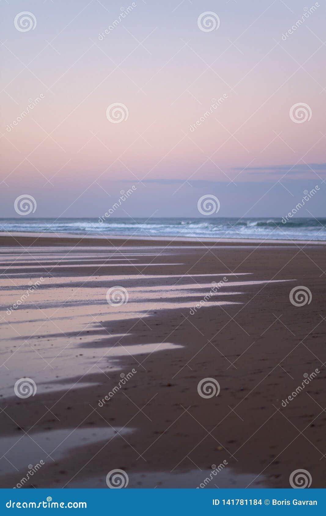 Costa di Sidi Kaouki, Marocco, Africa Tempo di tramonto del Marocco città della spuma meravigliosamente