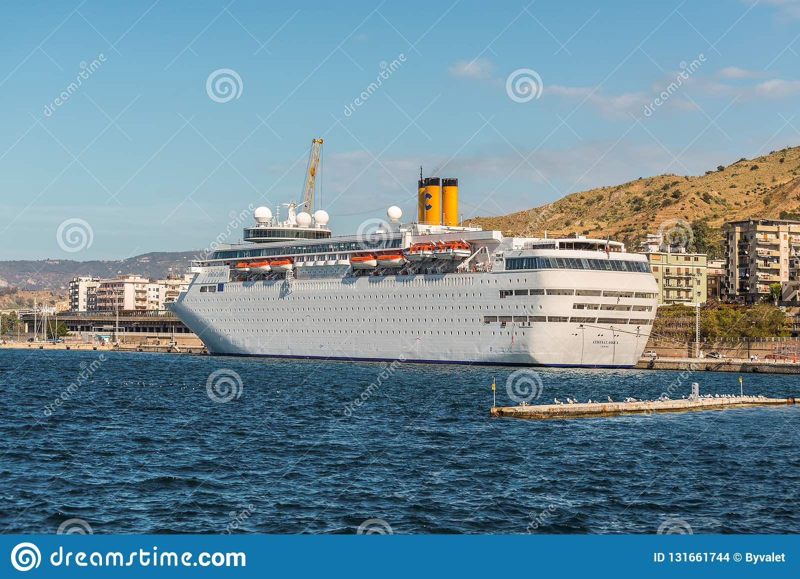 Costa NeoClassica Cruise Ship Moored In The Port Of Reggio ...