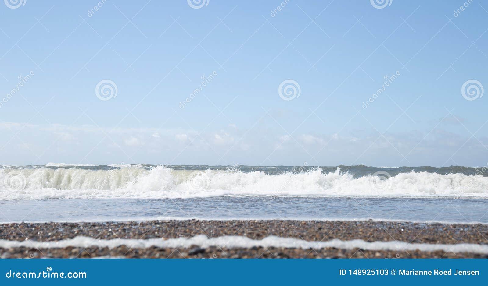 A costa ocidental de Dinamarca