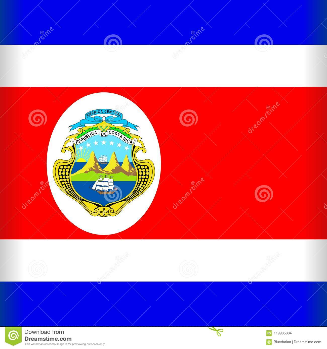 Costa RIca Flag - Vector Graphic Art © BluedarkArt