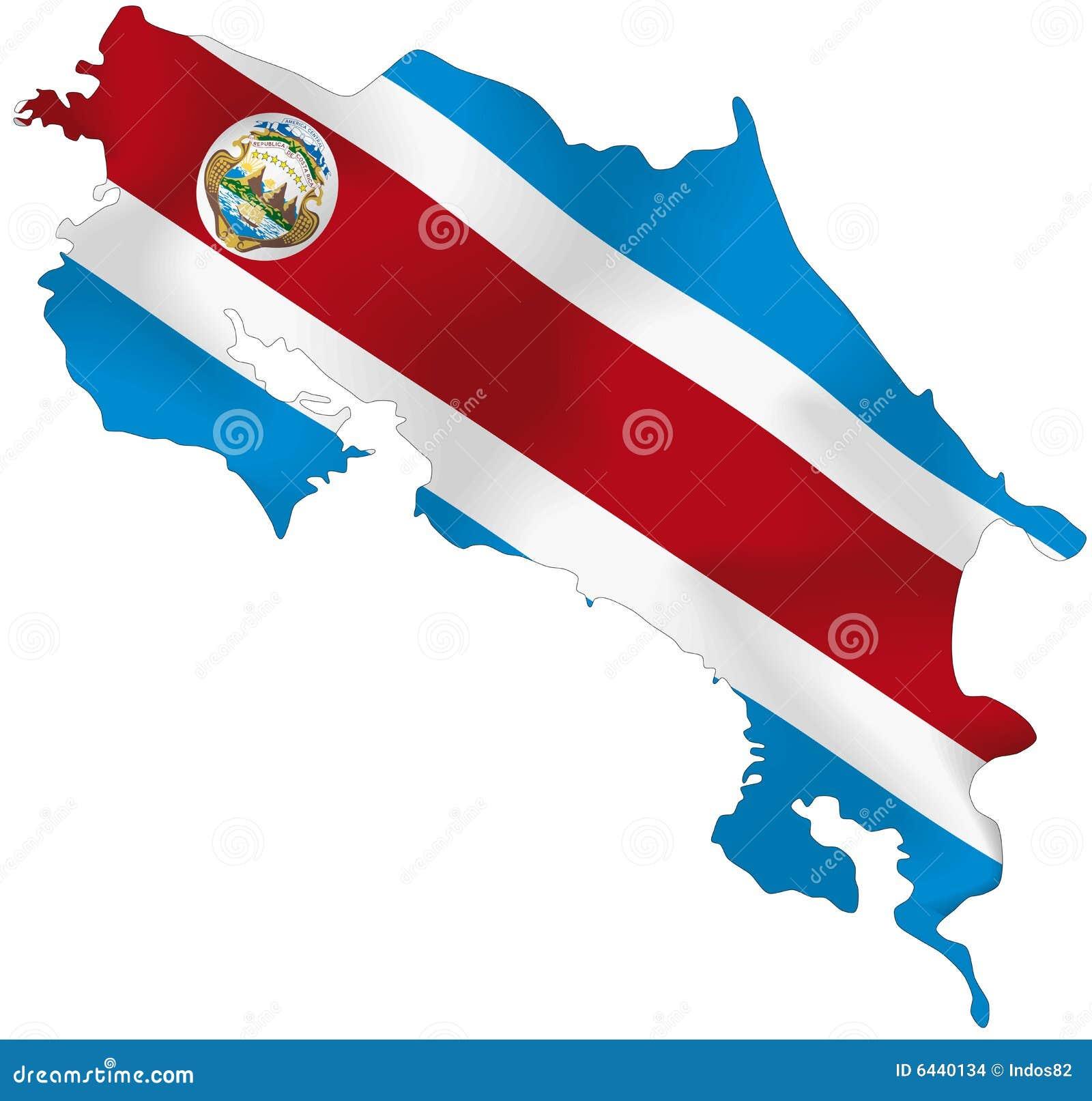 Costa Rica flagga