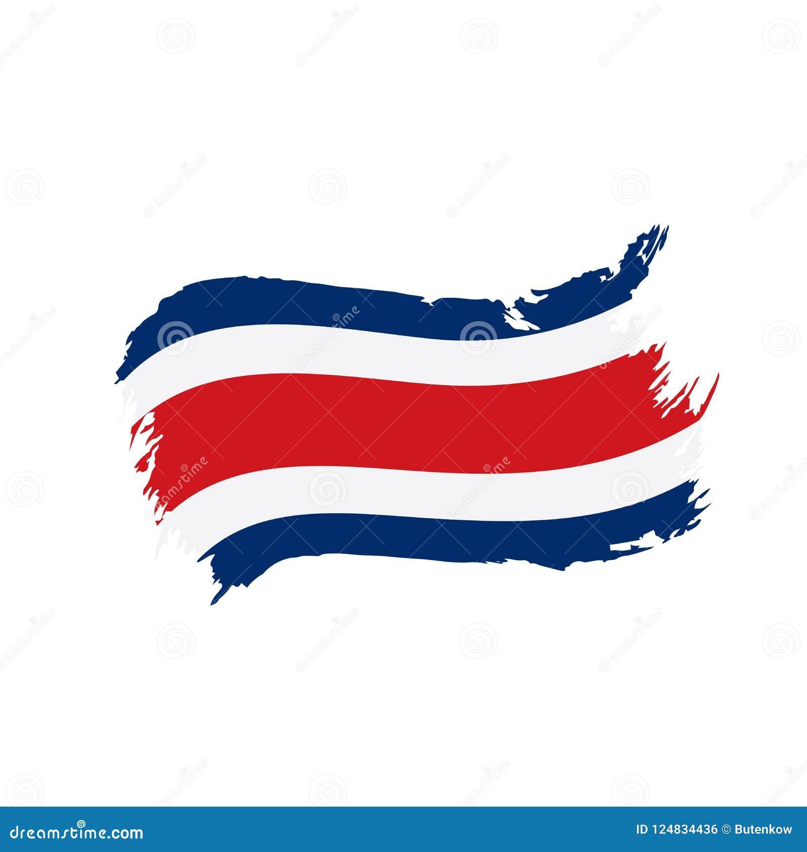 Costa Rica flagga, vektorillustration