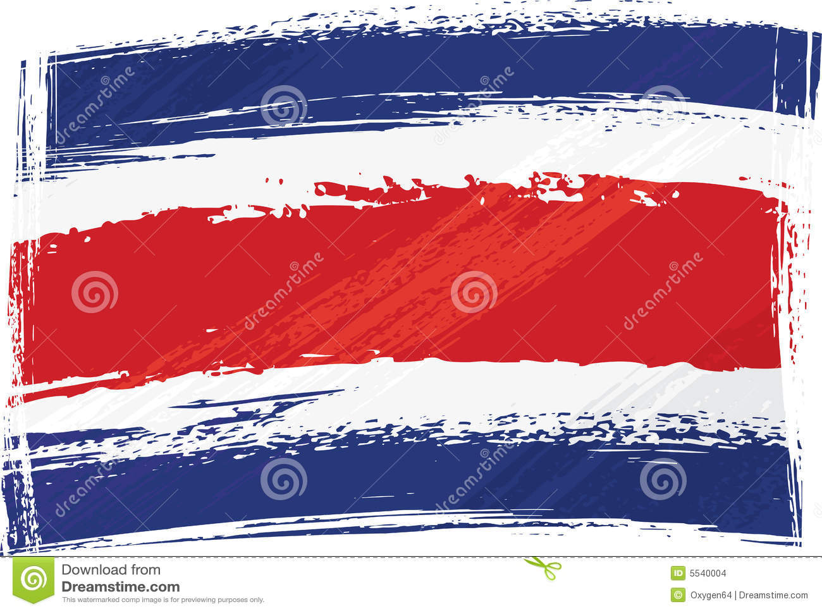 Costa Rica flaggagrunge