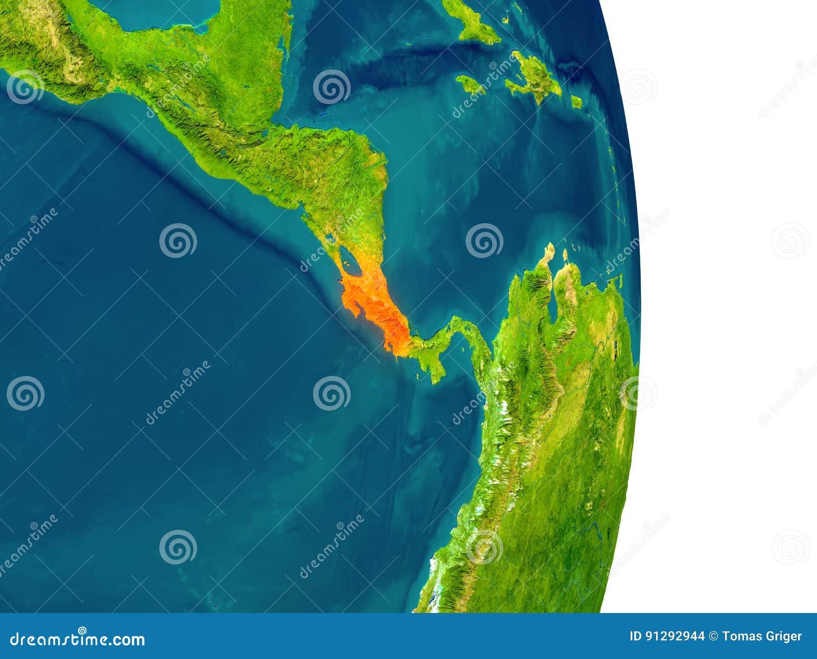 Costa Rica na planecie