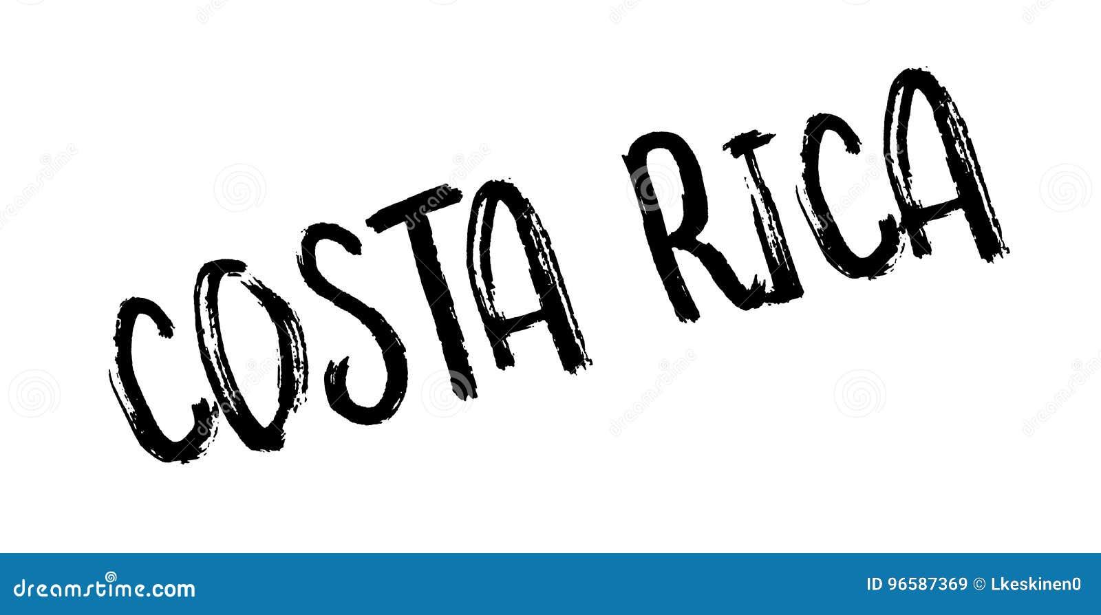 Costa Rica rubber stämpel