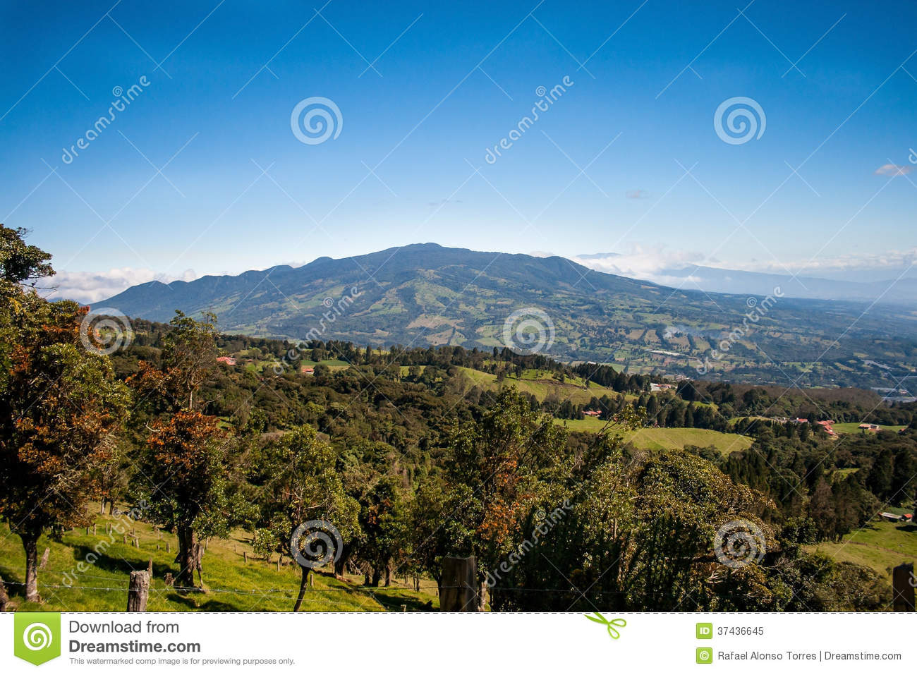 Costa Rican central valley and countryside