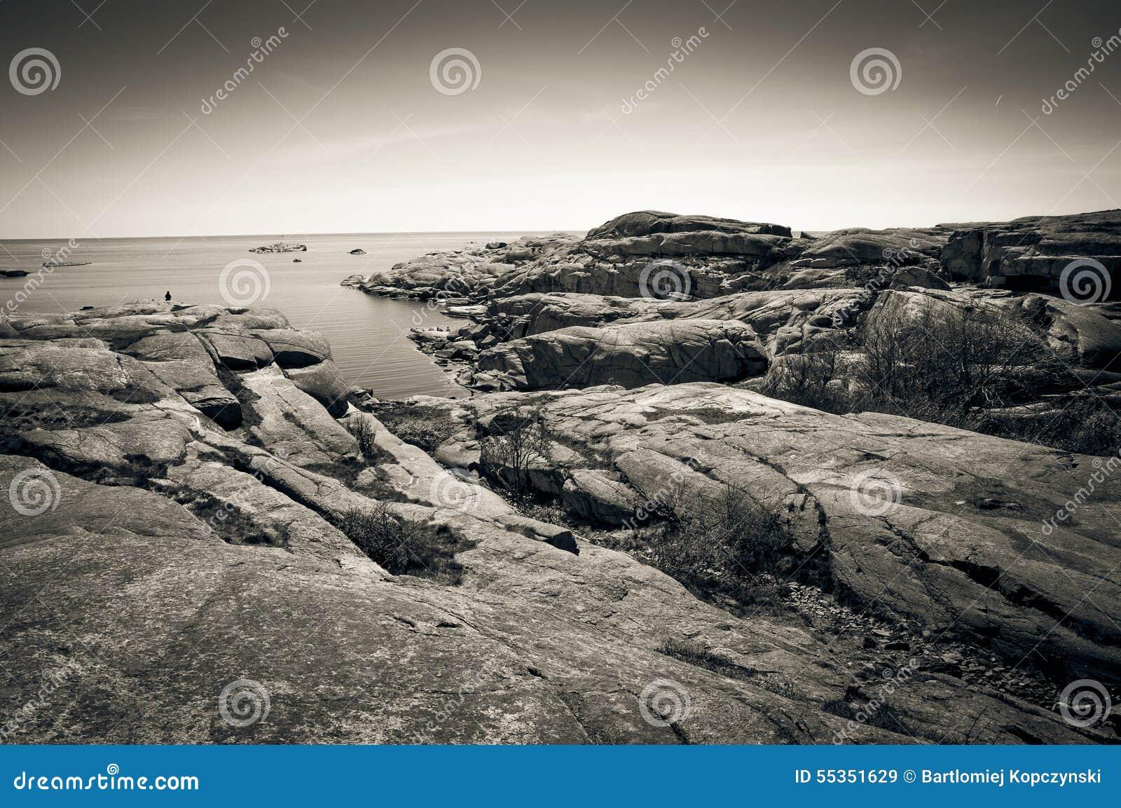 Costa rocciosa all estremità di Verdens, Norvegia