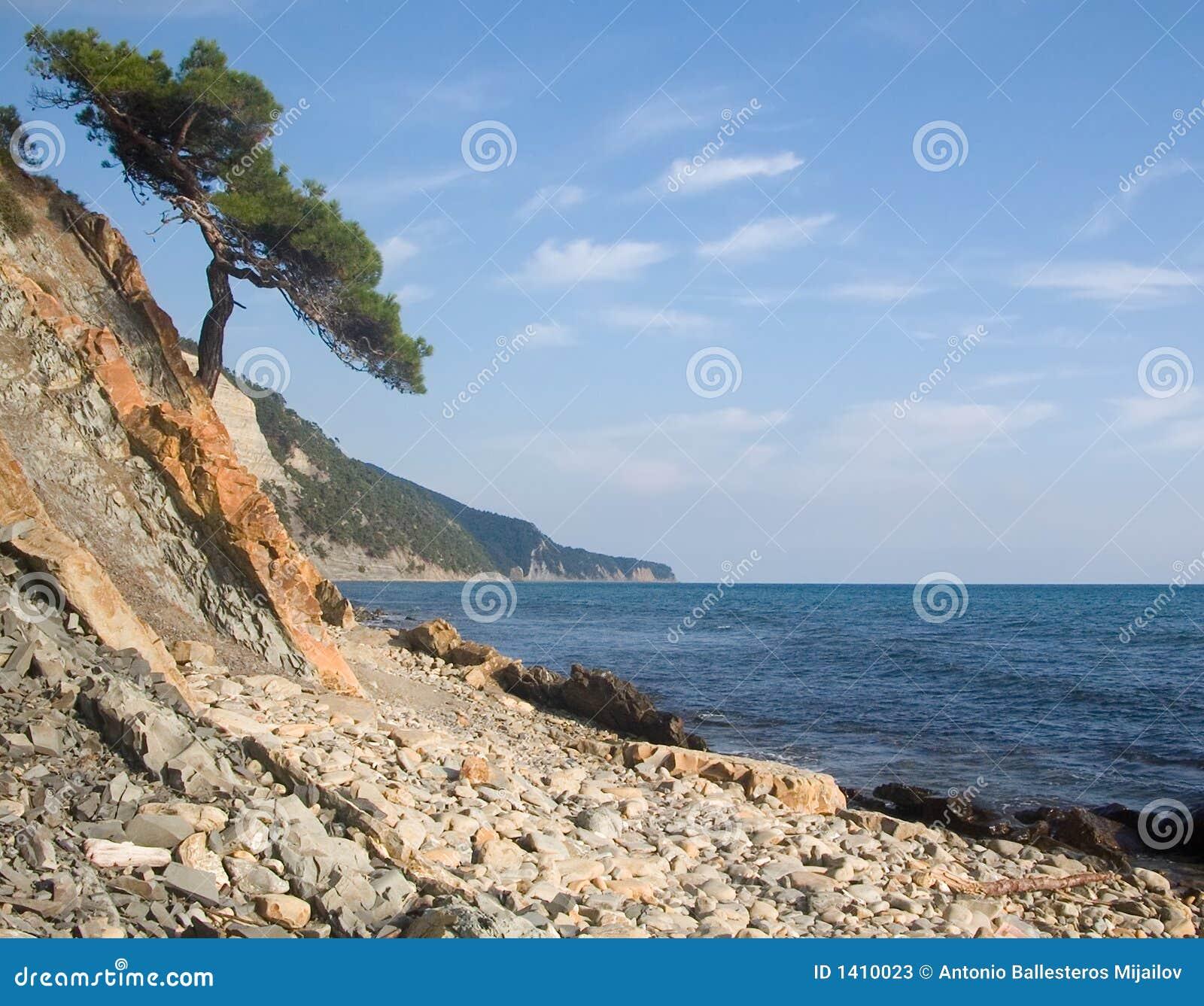 Costa rocosa del Mar Negro