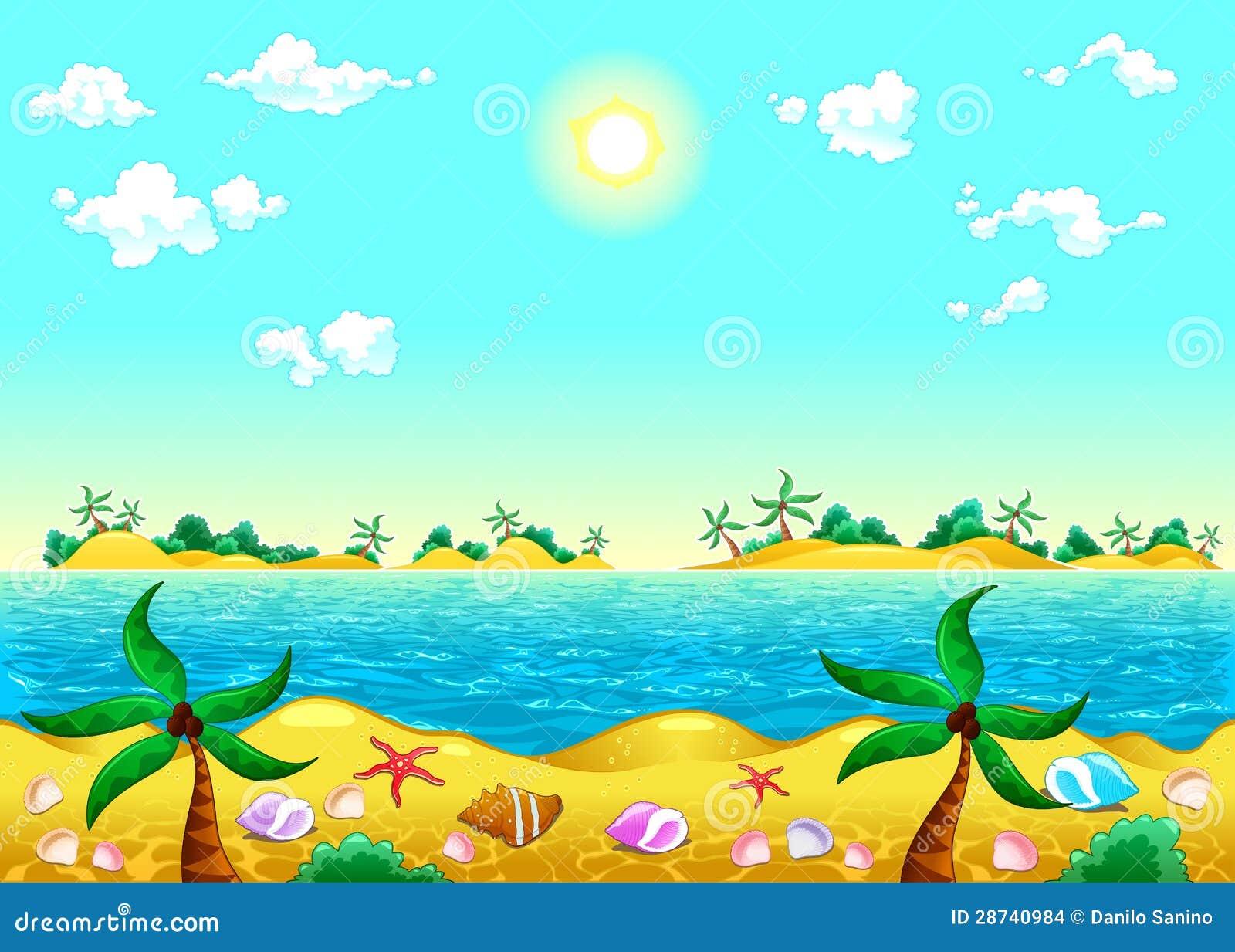 Costa y océano.