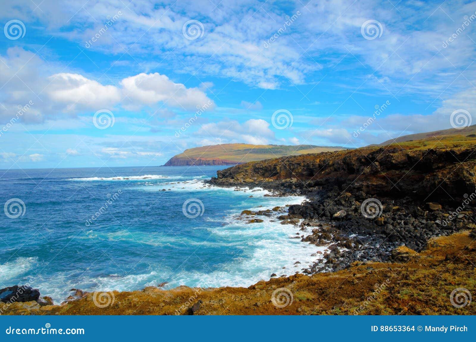 Costas alrededor de la isla de pascua