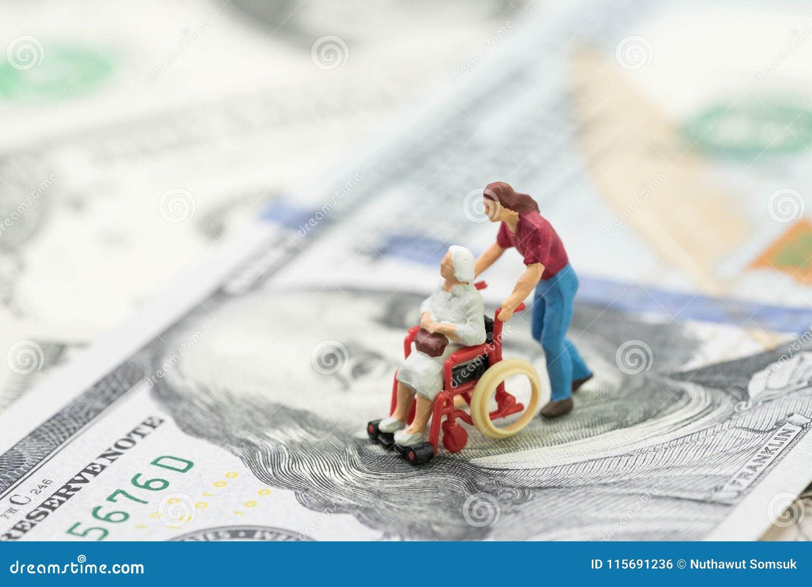 Coste de vida del retiro, de seguro médico o de industria médica