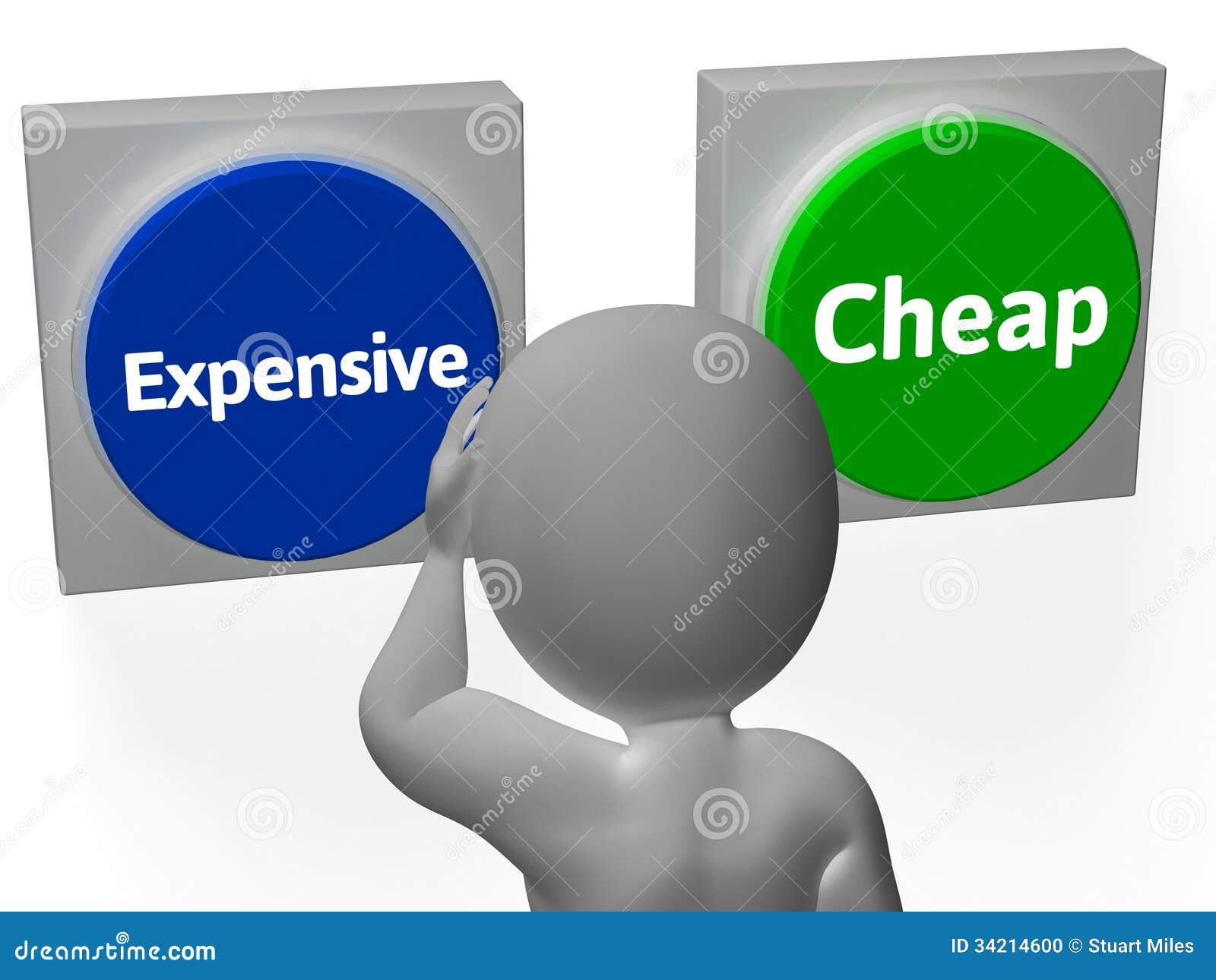 Costes De Compra De Los Botones Del Precio Barato Costoso