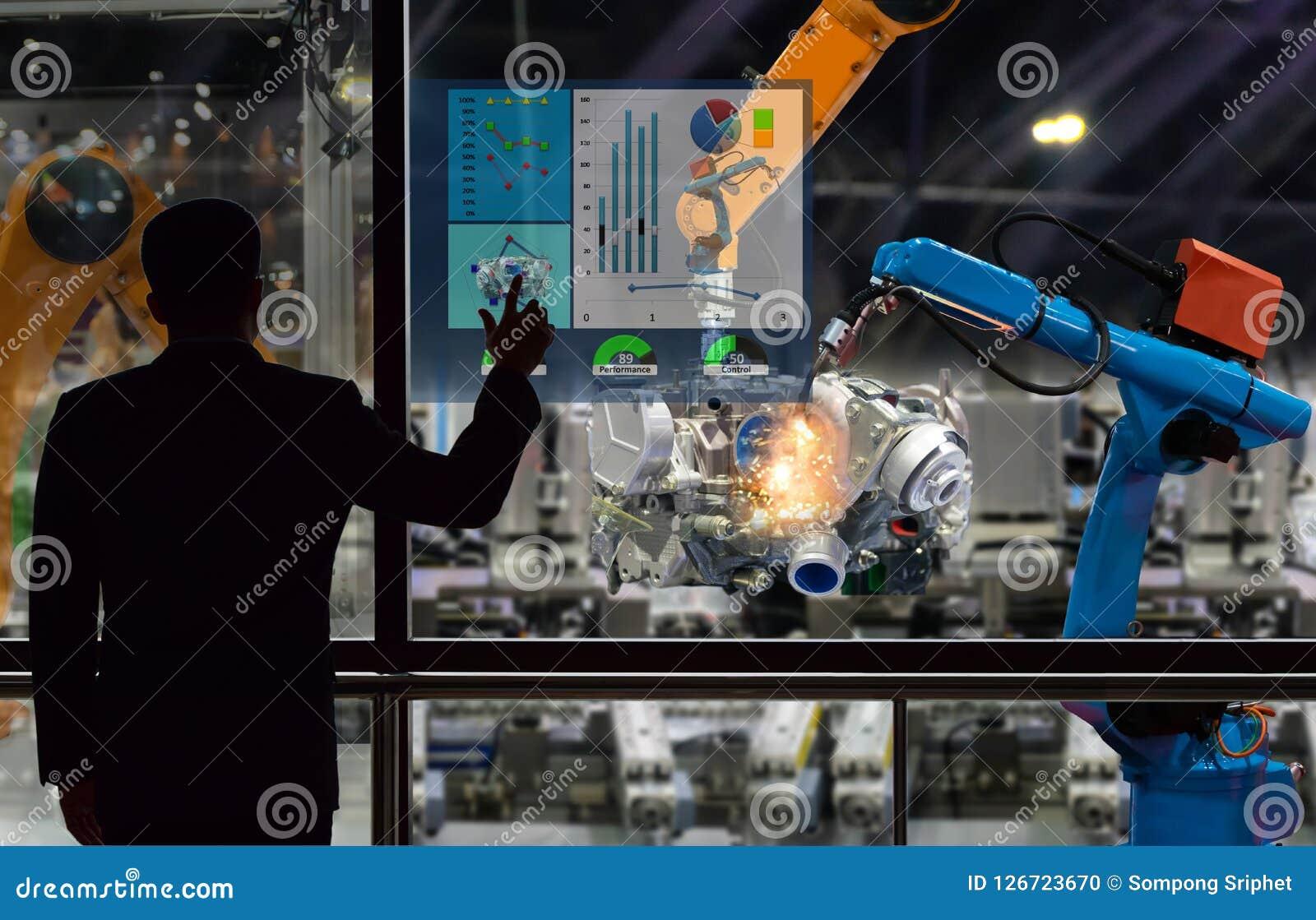Costruisca il robot che di controllo del touch screen la produzione della fabbrica parte l industria manufatturiera del motore