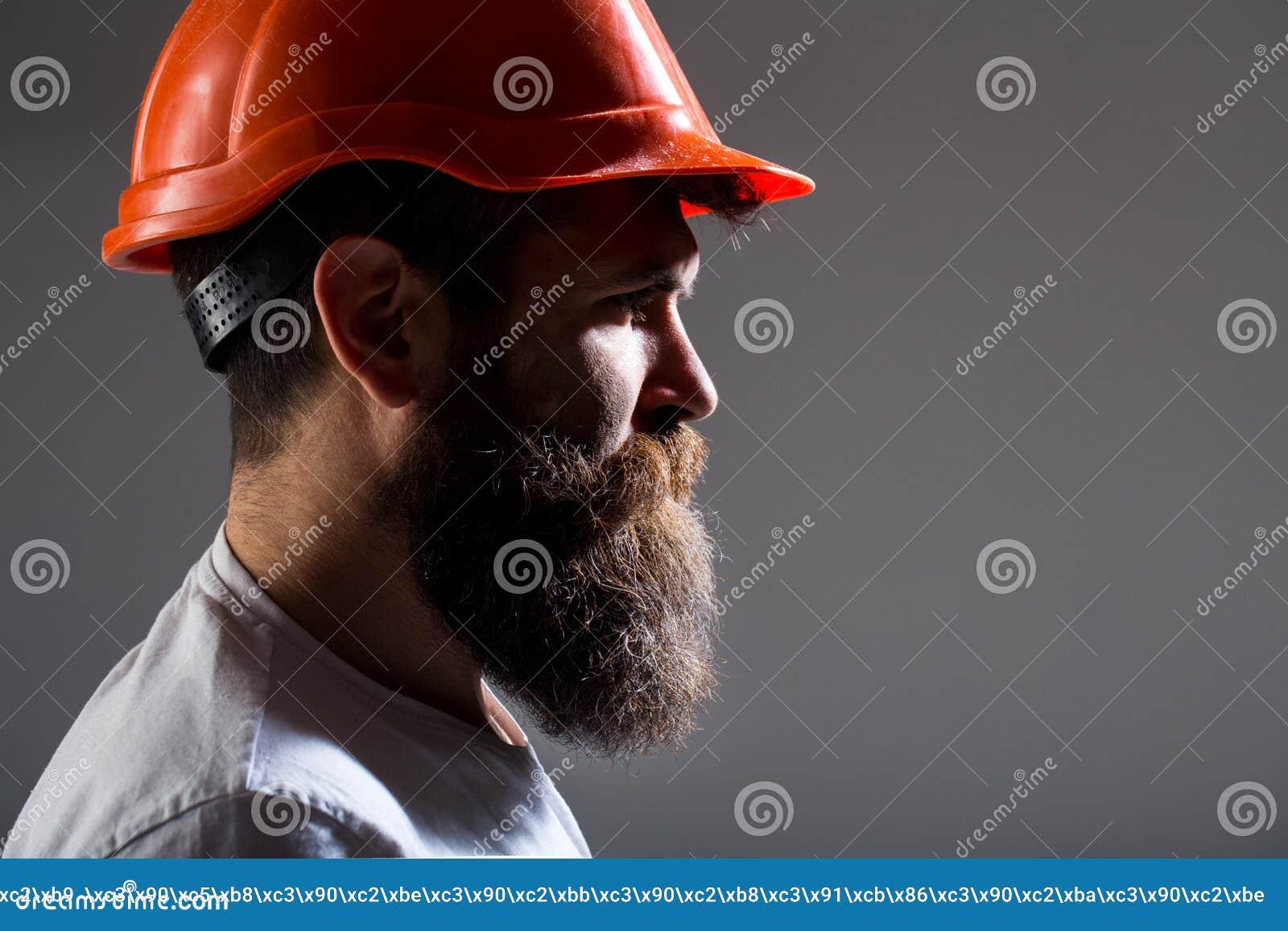 Costruttore dell architetto del ritratto, lavoro dell ingegnere civile Costruttore in casco, in caporeparto o in riparatore nel c