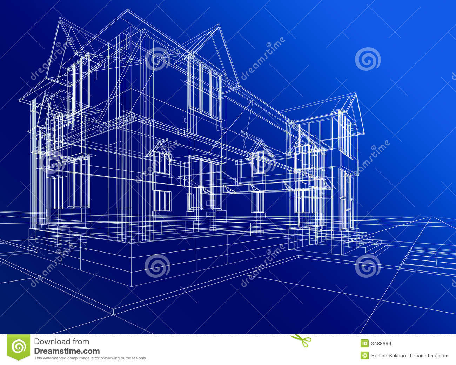 Costruzione astratta della casa illustrazione di stock for Software gratuito per la costruzione della casa
