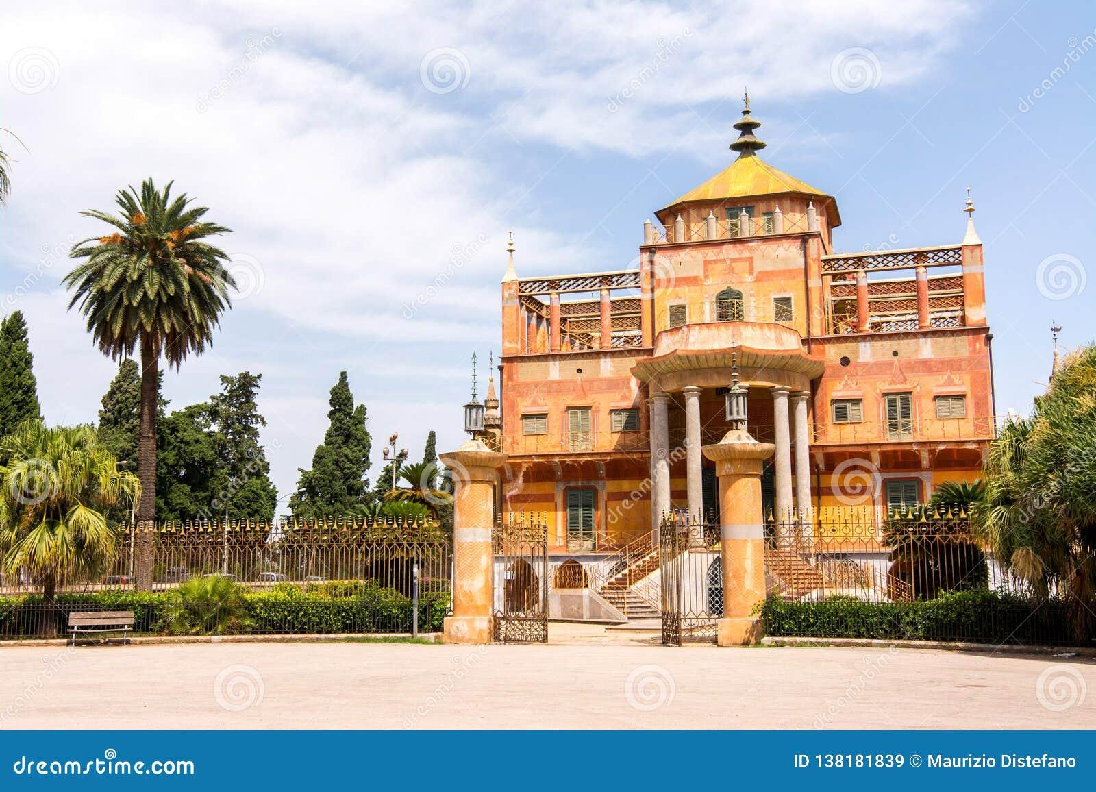 Costruzione cinese a Palermo, Sicilia,