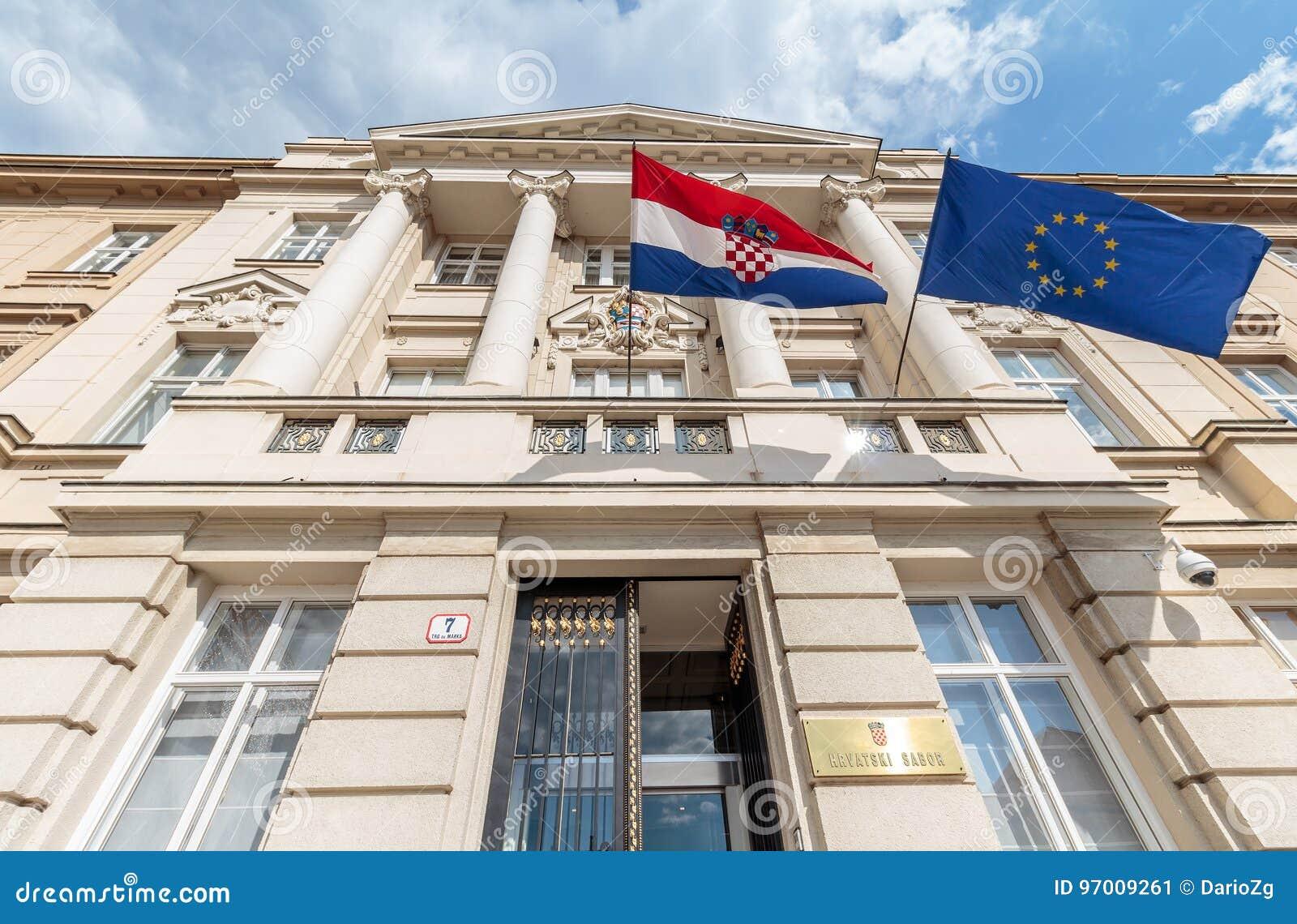 Costruzione croata del Parlamento
