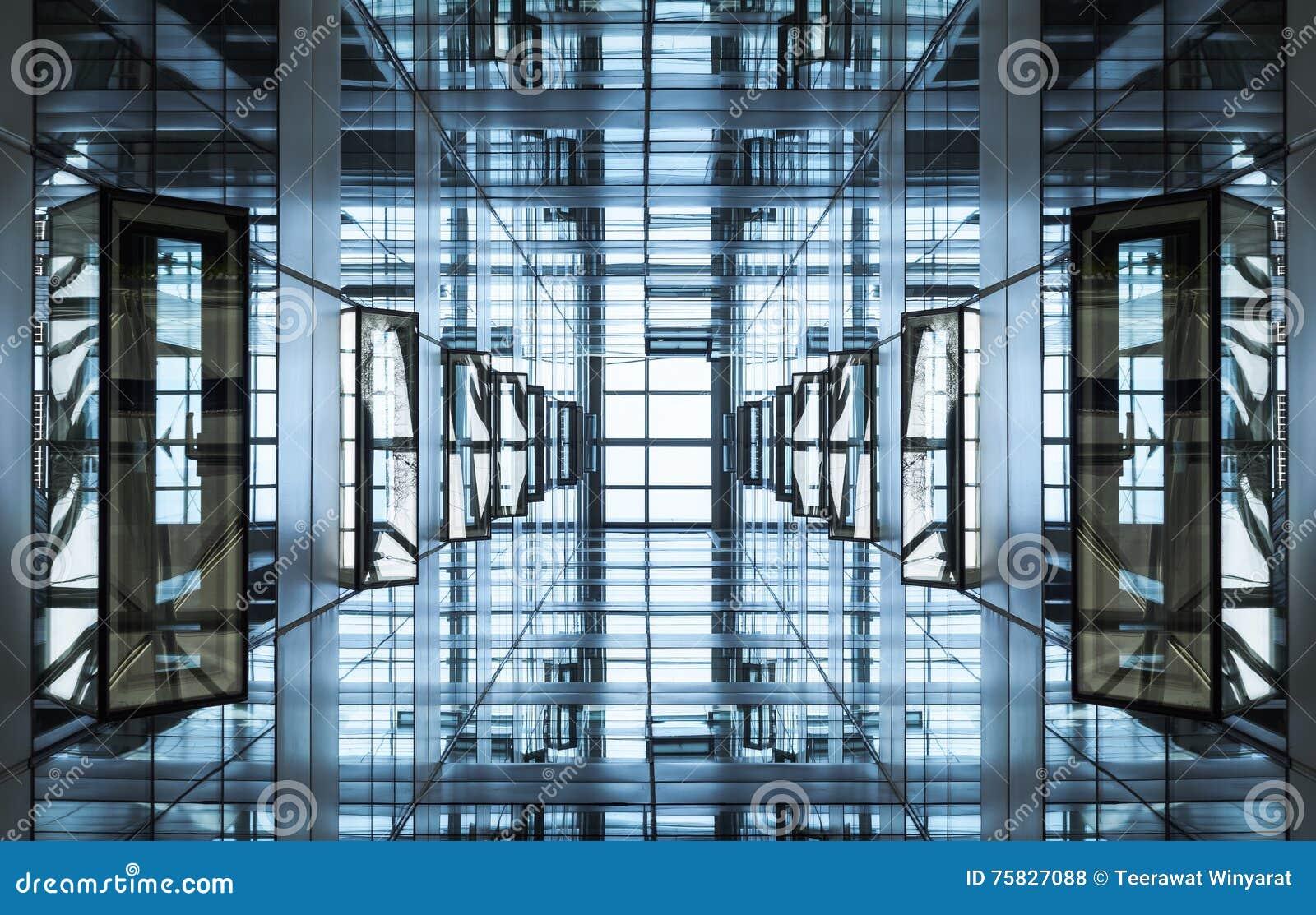Architettura Moderna Dell'acciaio E Di Vetro Fotografie Stock ...