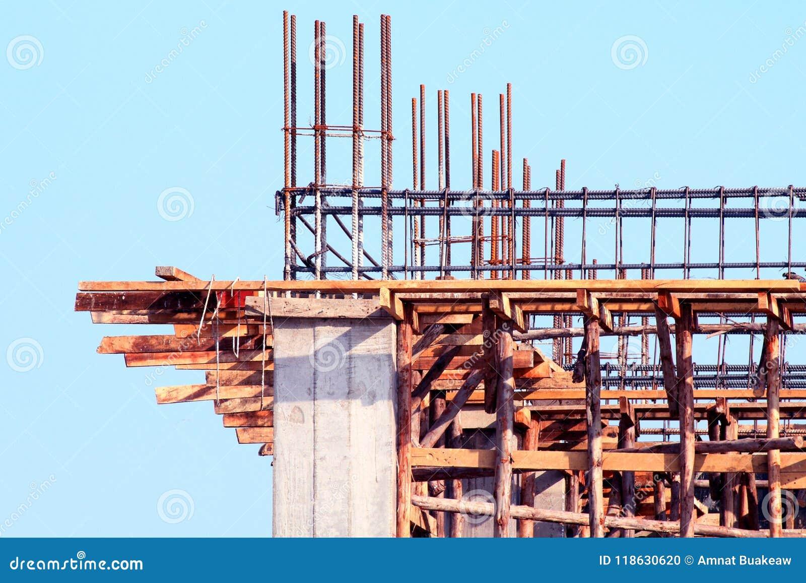 Costruzione del cantiere, area di progetto domestica di architettura della costruzione, immagine della costruzione della Camera p