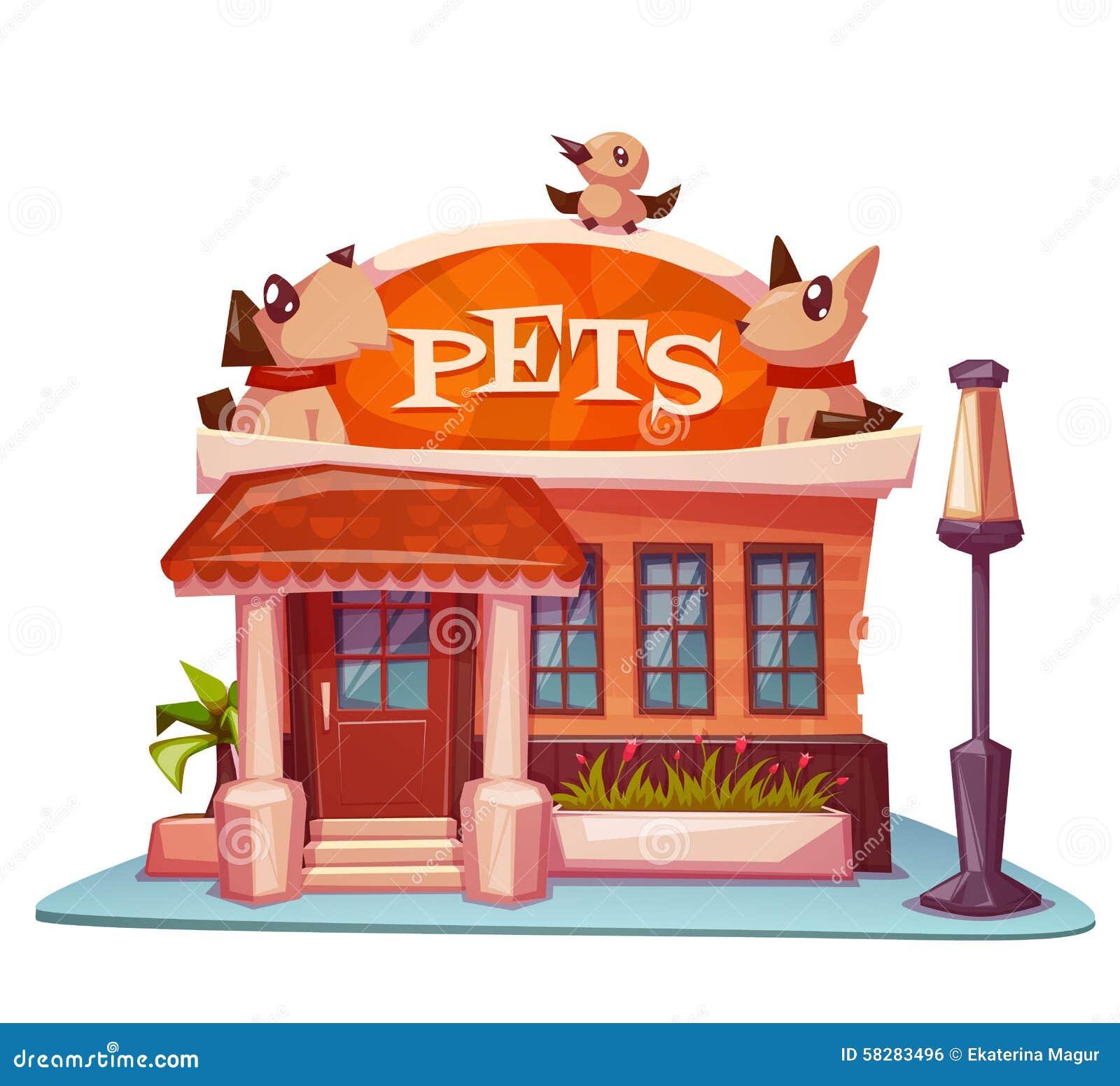 Costruzione del negozio di animali con l 39 insegna luminosa for Piani di costruzione del negozio
