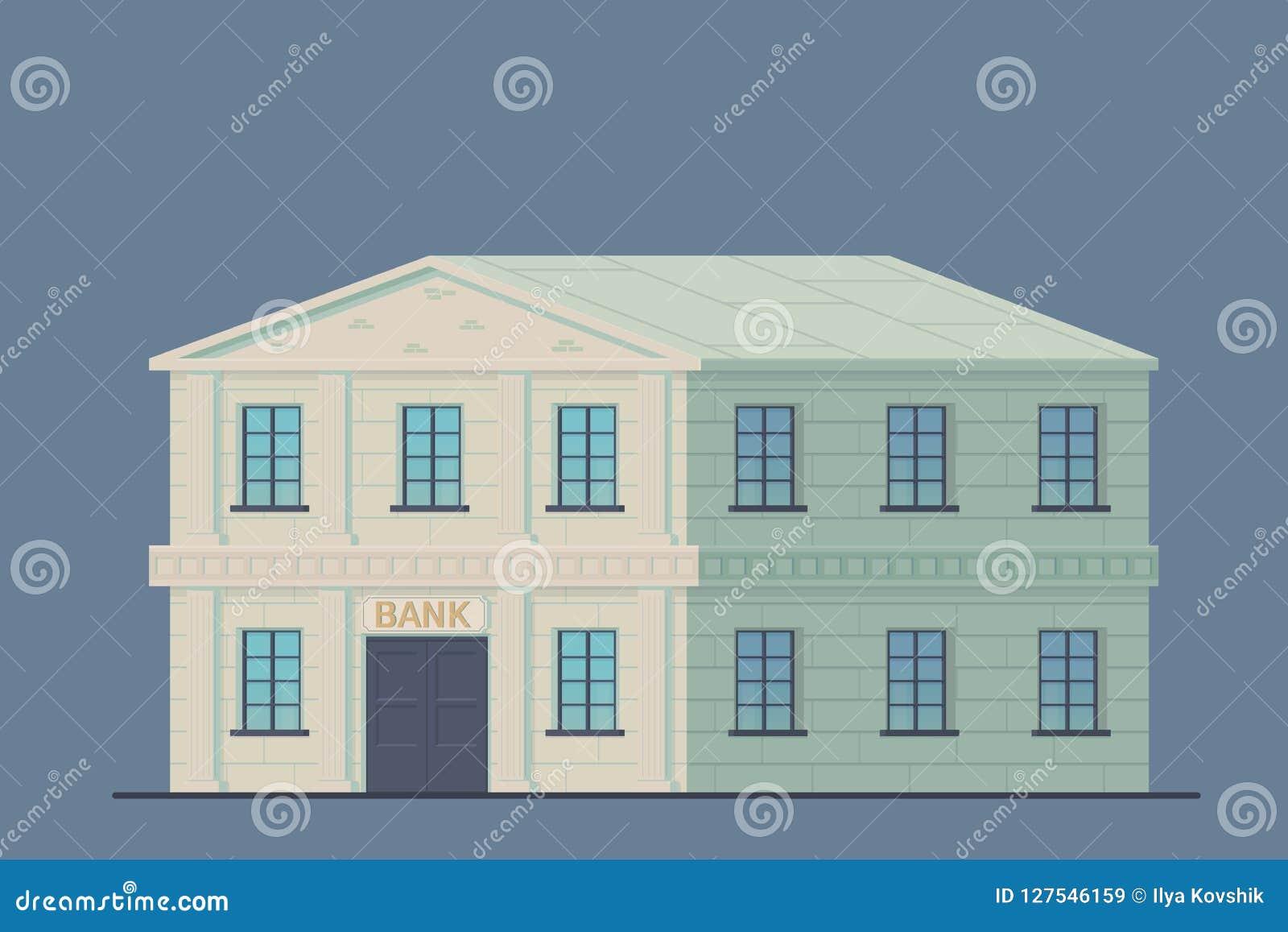 Costruzione della Banca nella città Istituzione finanziaria amministrativa dello stato per lo stoccaggio di soldi e dell altro va