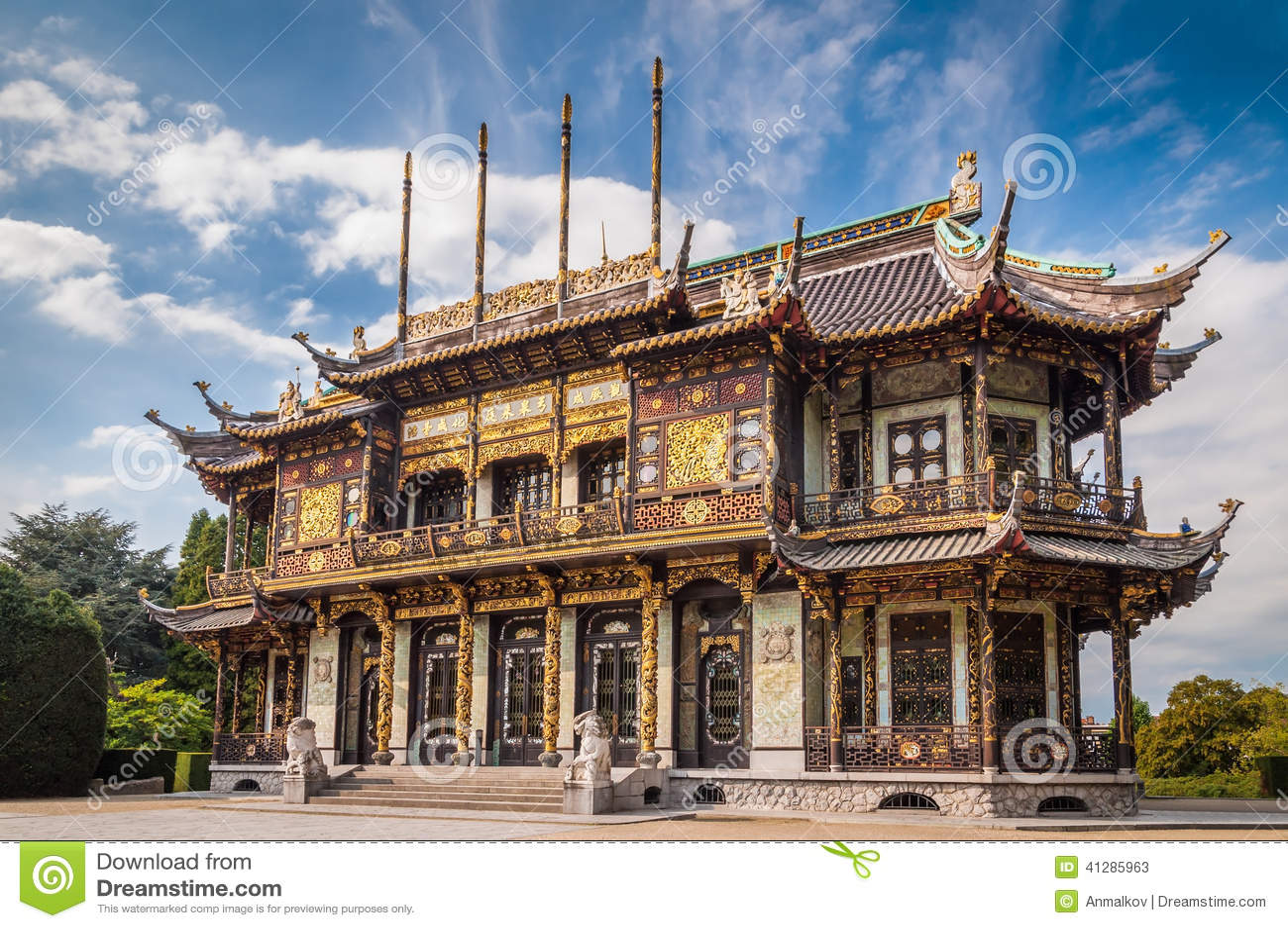 Costruzione di casa cinese a bruxelles belgio immagine for Casa di costruzione personalizzata