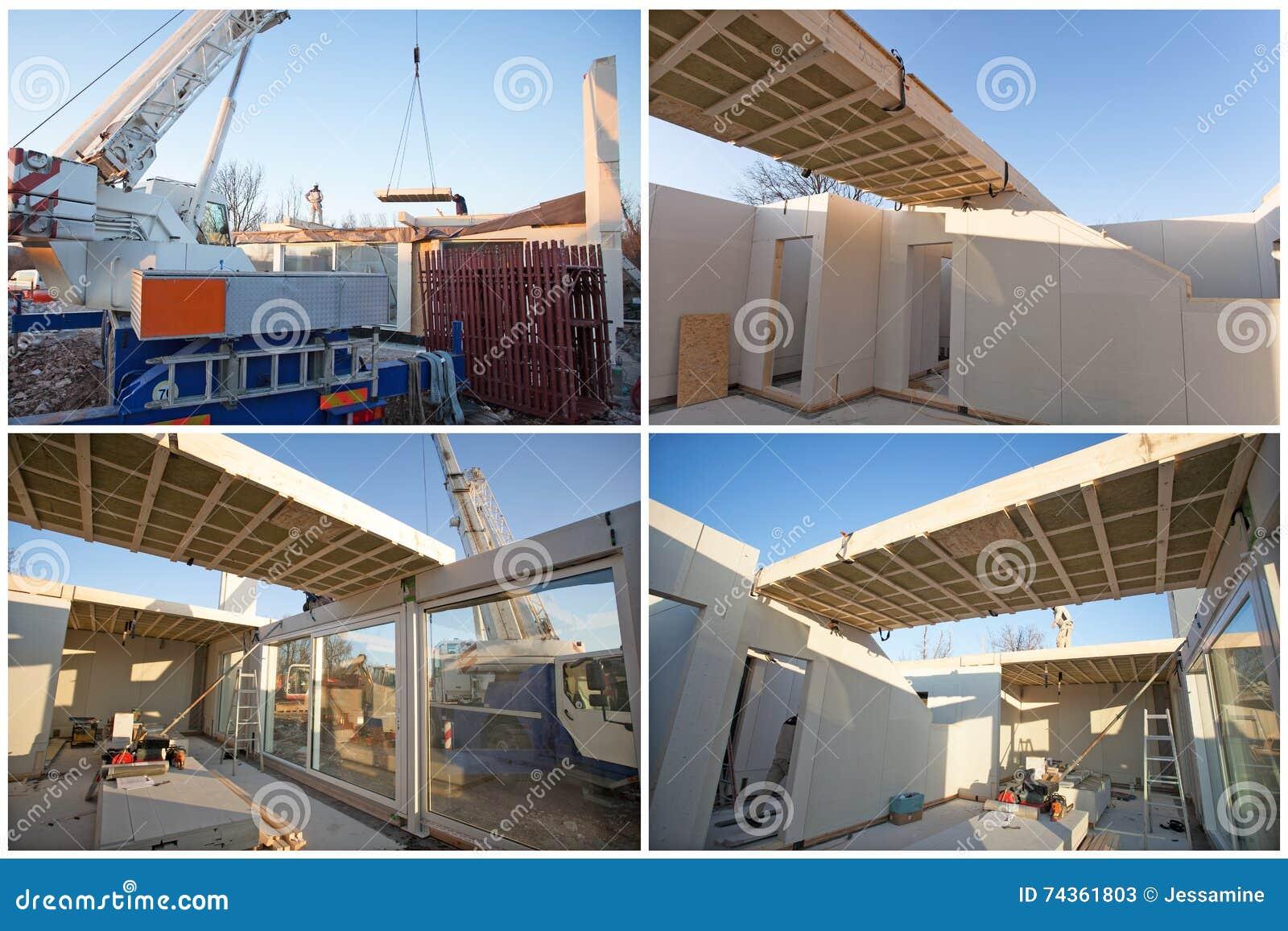 Costruzione di casa prefabbricata immagine stock for Piccoli piani di costruzione casa