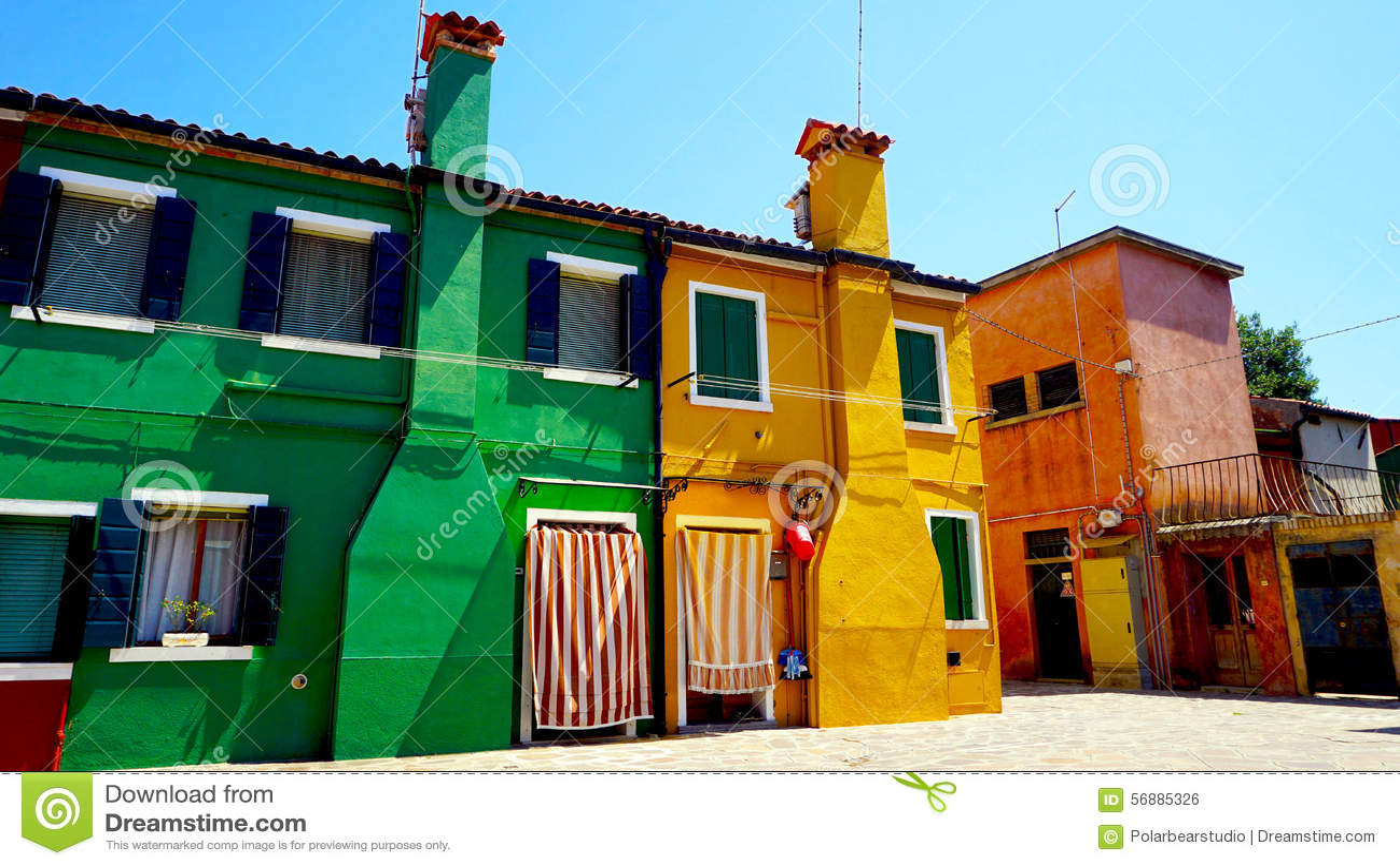 Costruzione di case variopinta