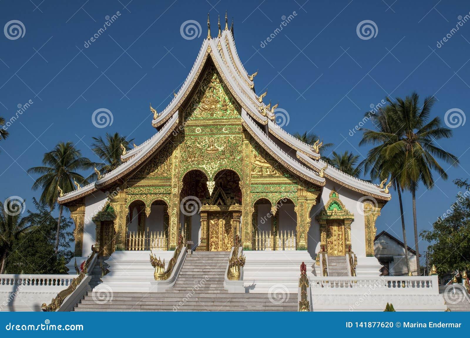 Costruzione di colpo di Pha del biancospino, Luang Prabang, Laos