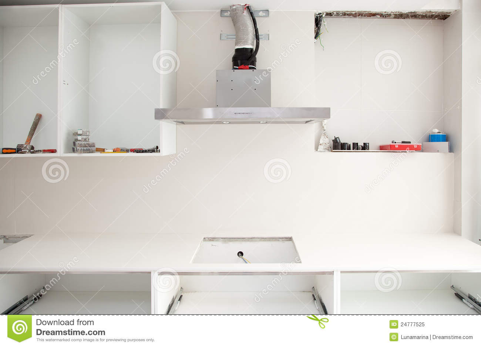 Costruzione di disegno interno di una cucina immagine - Costruzione cucina ...