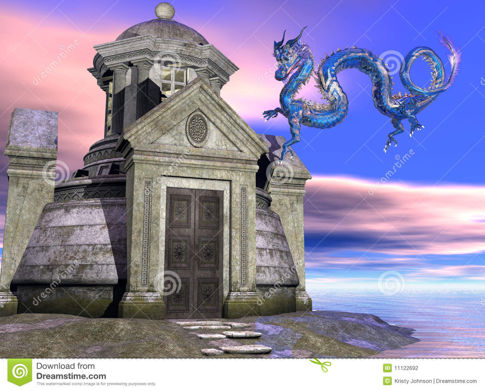 Costruzione e drago antichi